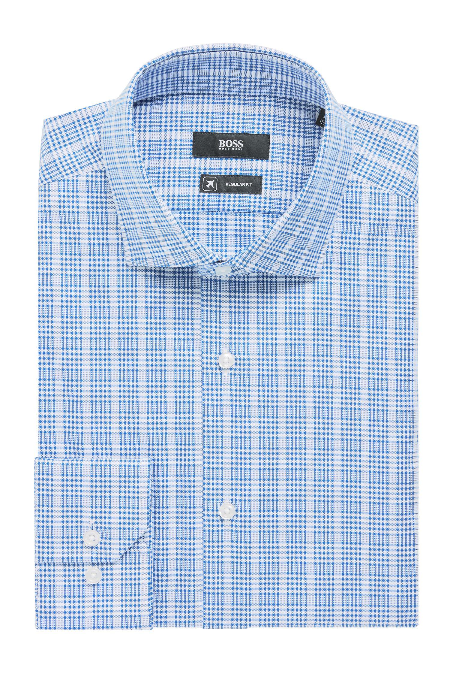 Chemise à motif prince-de-galles en coton avec finition Fresh Active