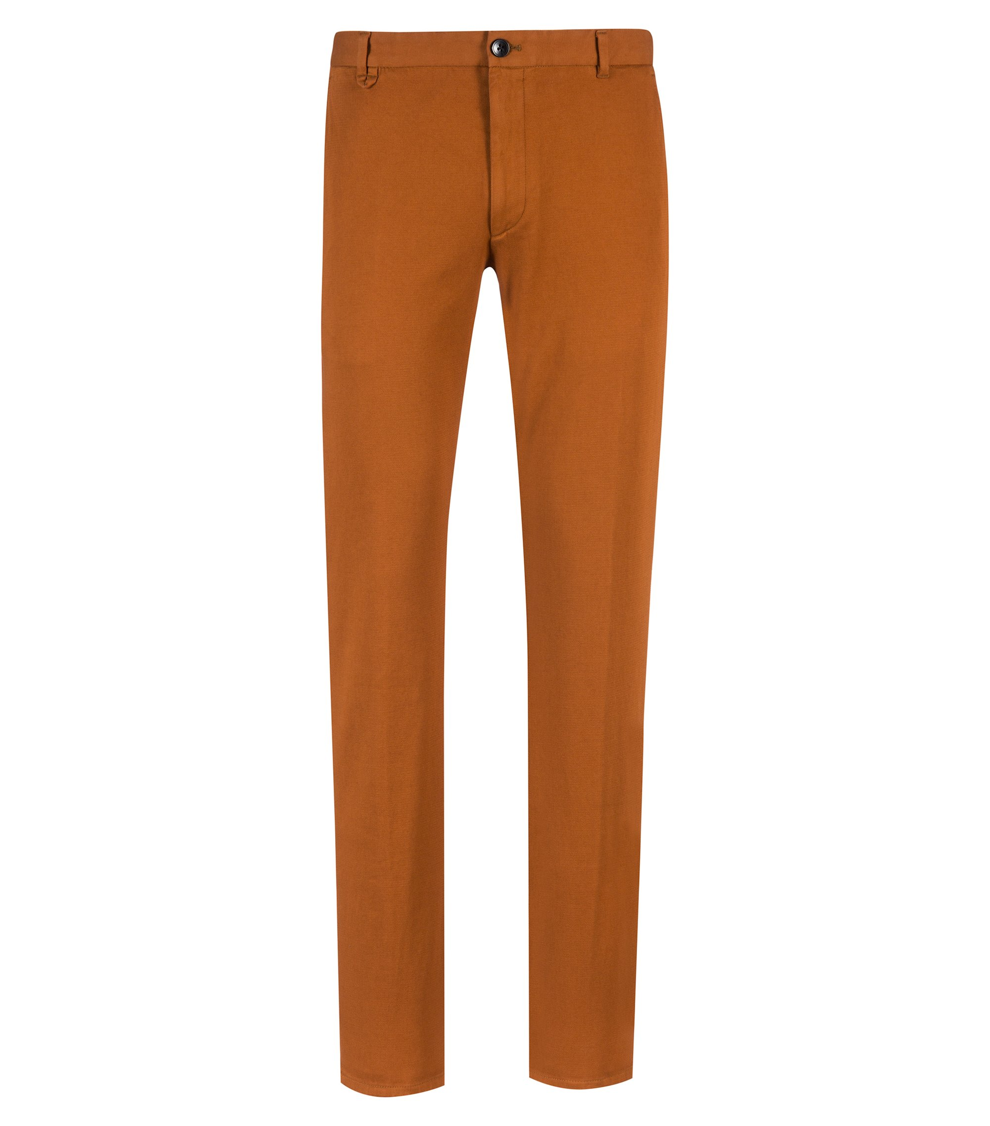 Pantalon Extra Slim Fit en coton stretch micro-structuré, Marron