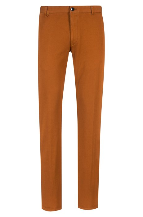Extra-slim-fit trousers in micro-structure stretch cotton HUGO BOSS Cost For Sale 23TB9