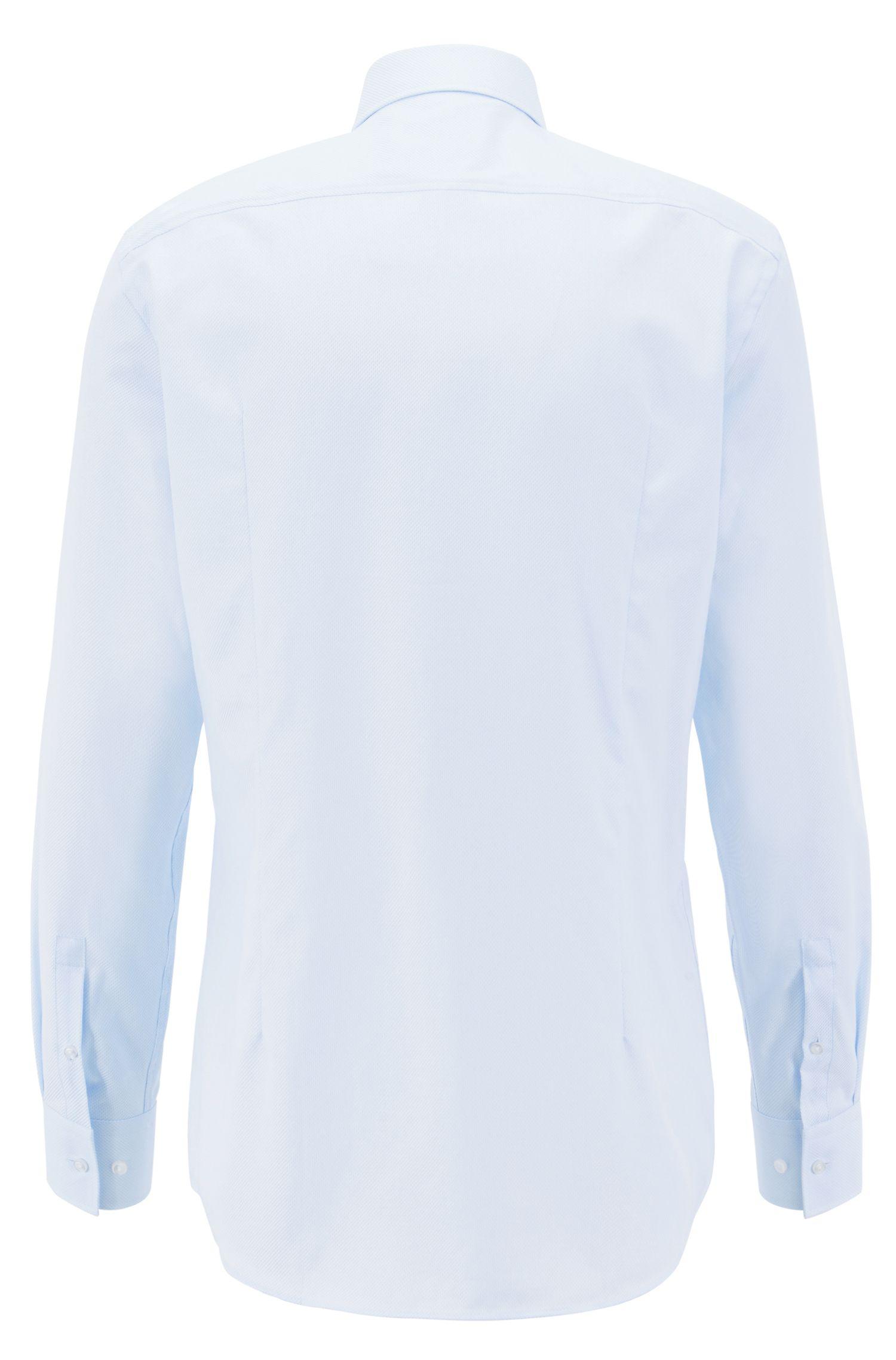 Slim-Fit Hemd aus ägyptischer Baumwolle, Hellblau