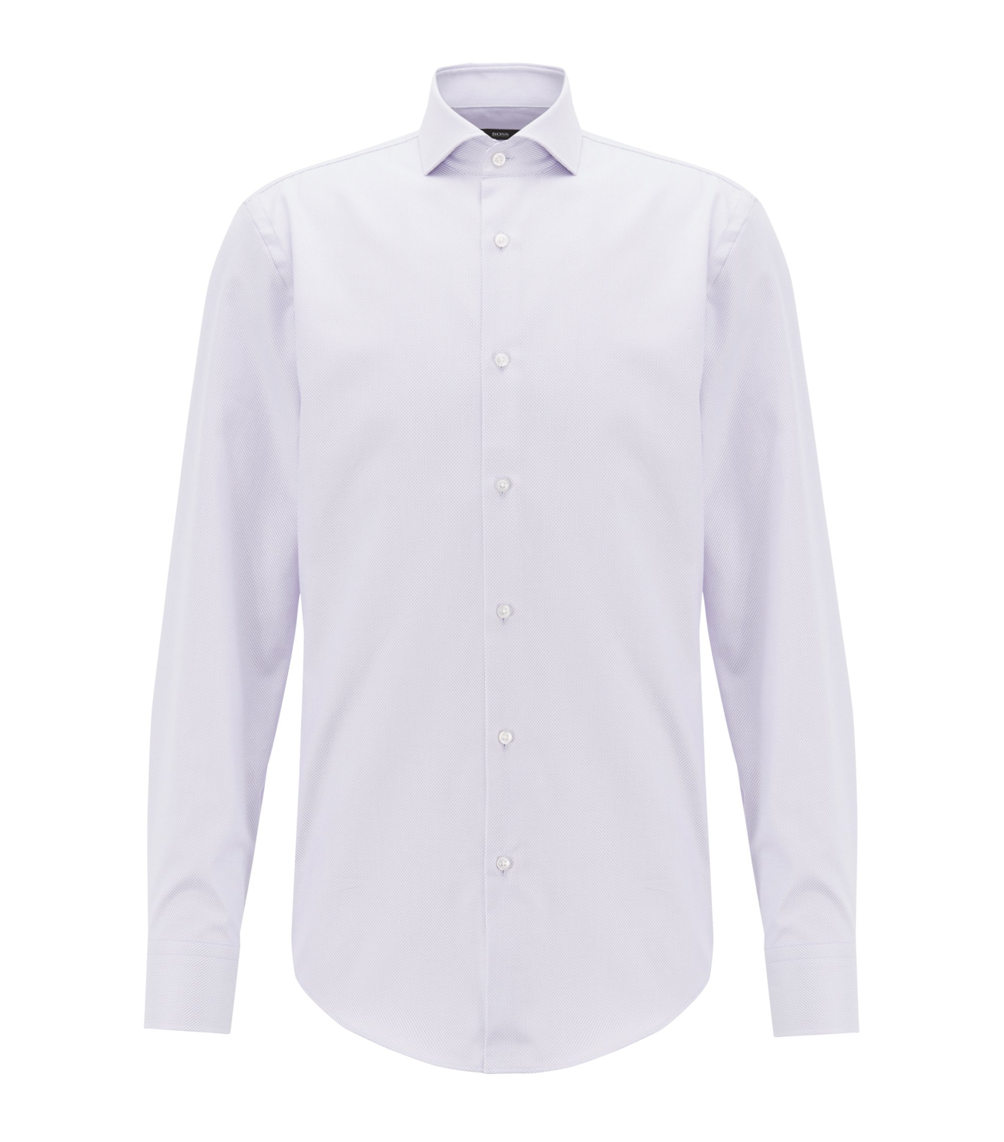 Slim-fit shirt in long-staple Egyptian cotton, Light Purple
