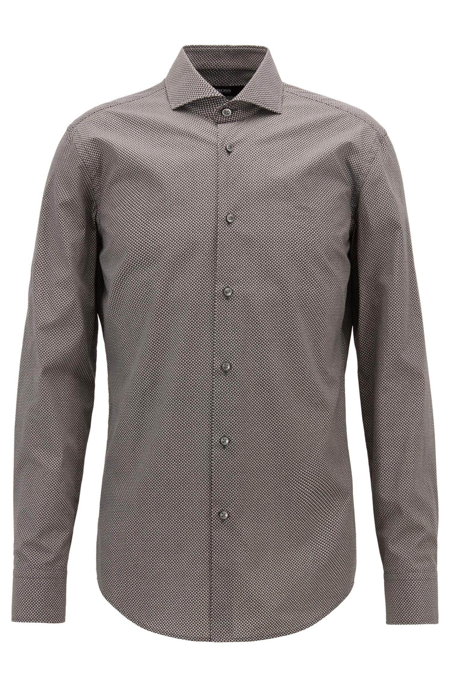 Slim-fit overhemd van Italiaanse katoen met printdessin