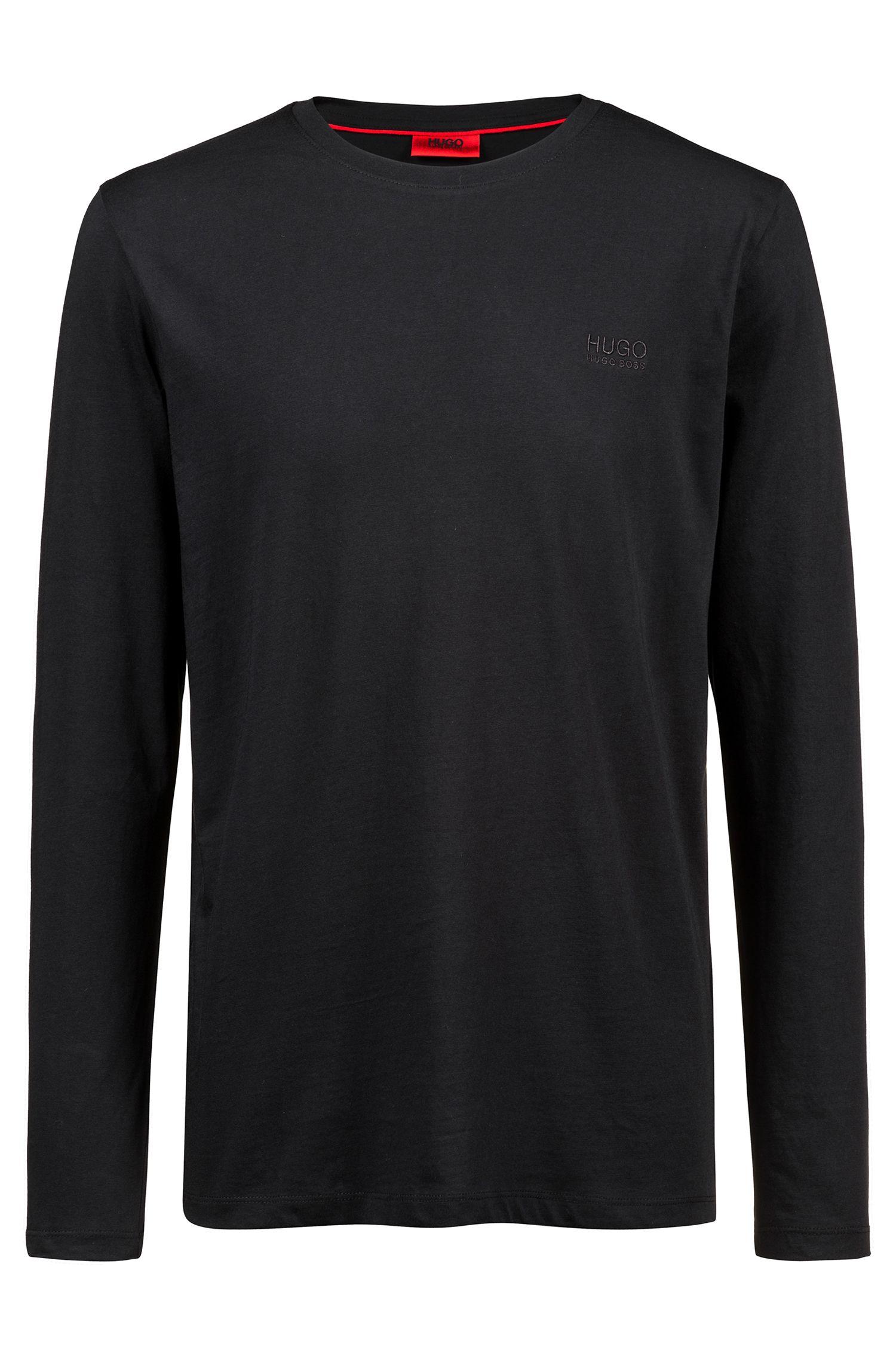 Katoenen sweater met logo op de linkerborst
