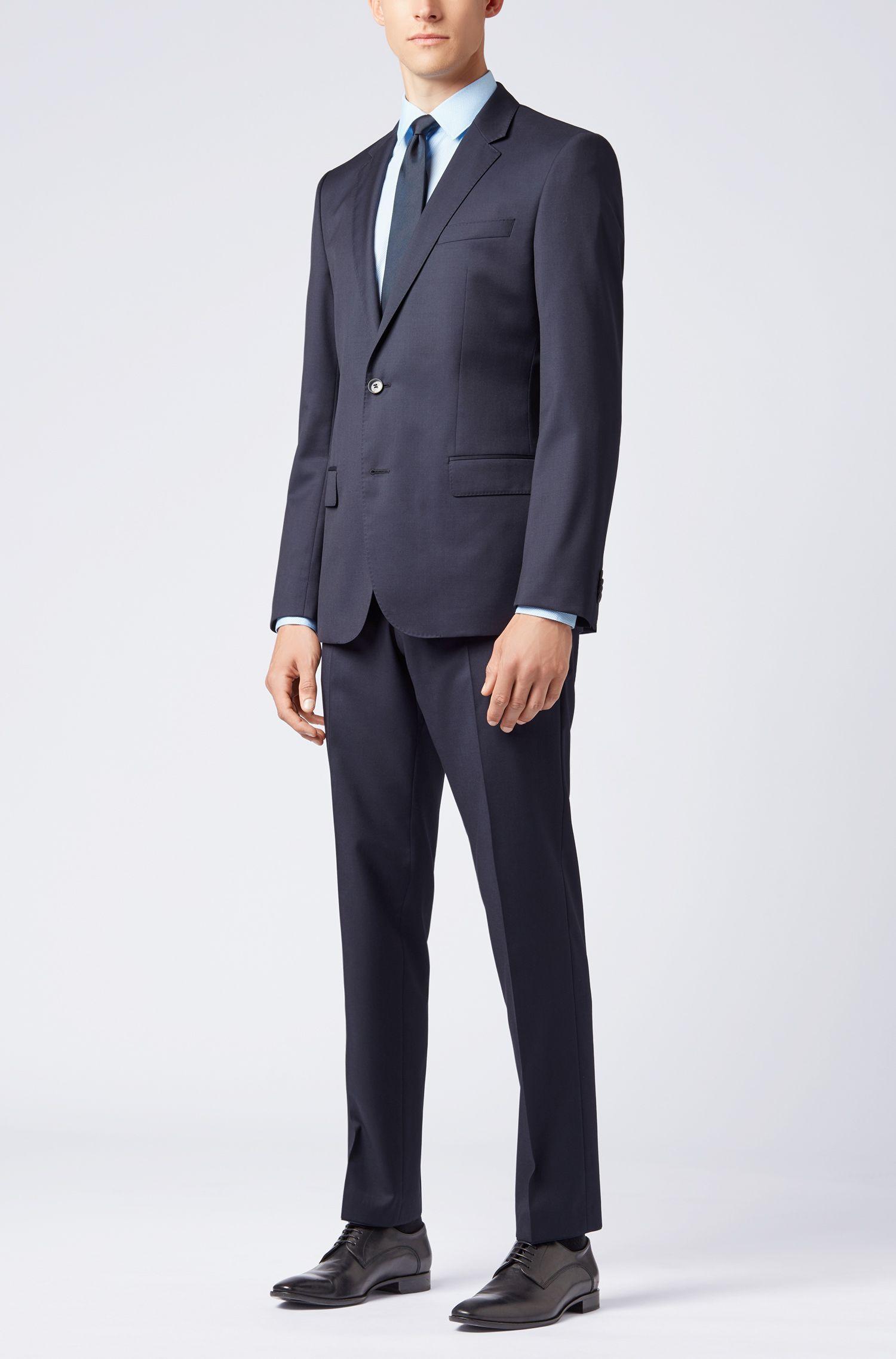 Bedrucktes Slim-Fit Hemd aus italienischer Baumwolle, Hellblau