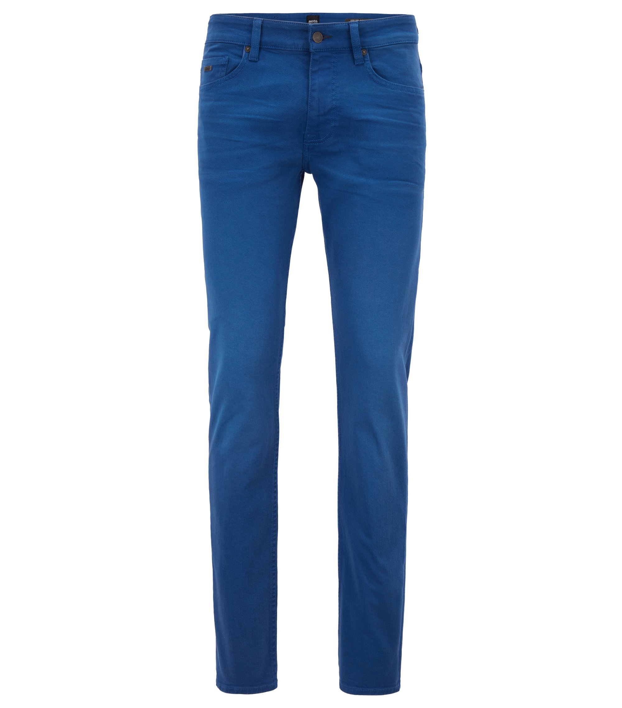 Slim-fit jeans in left-hand stretch-denim twill, Blue