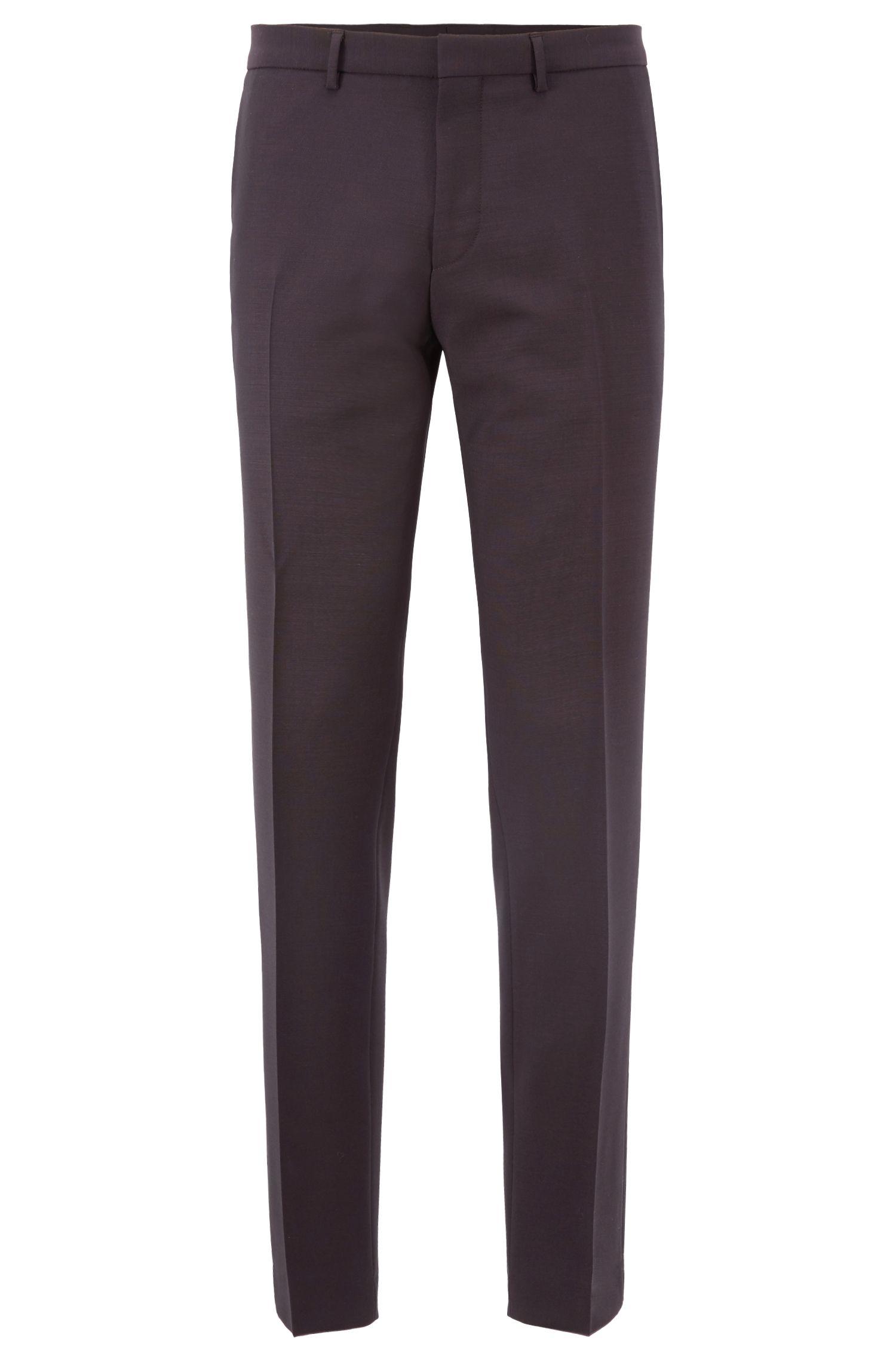 Extra Slim-Fit Anzug aus Schurwoll-Mix, Dunkel Lila