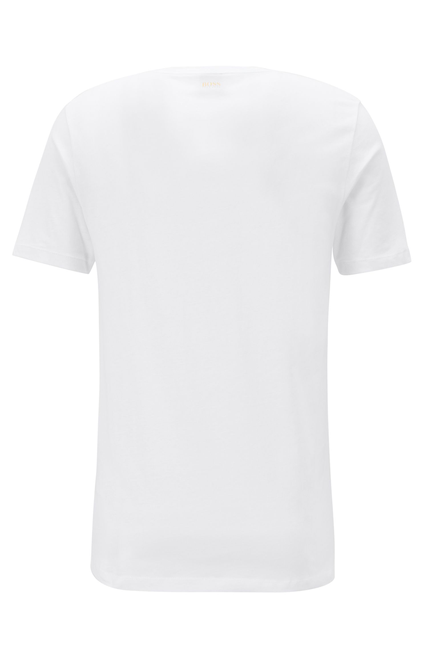 Crew-neck cotton T-shirt with photographic print, White