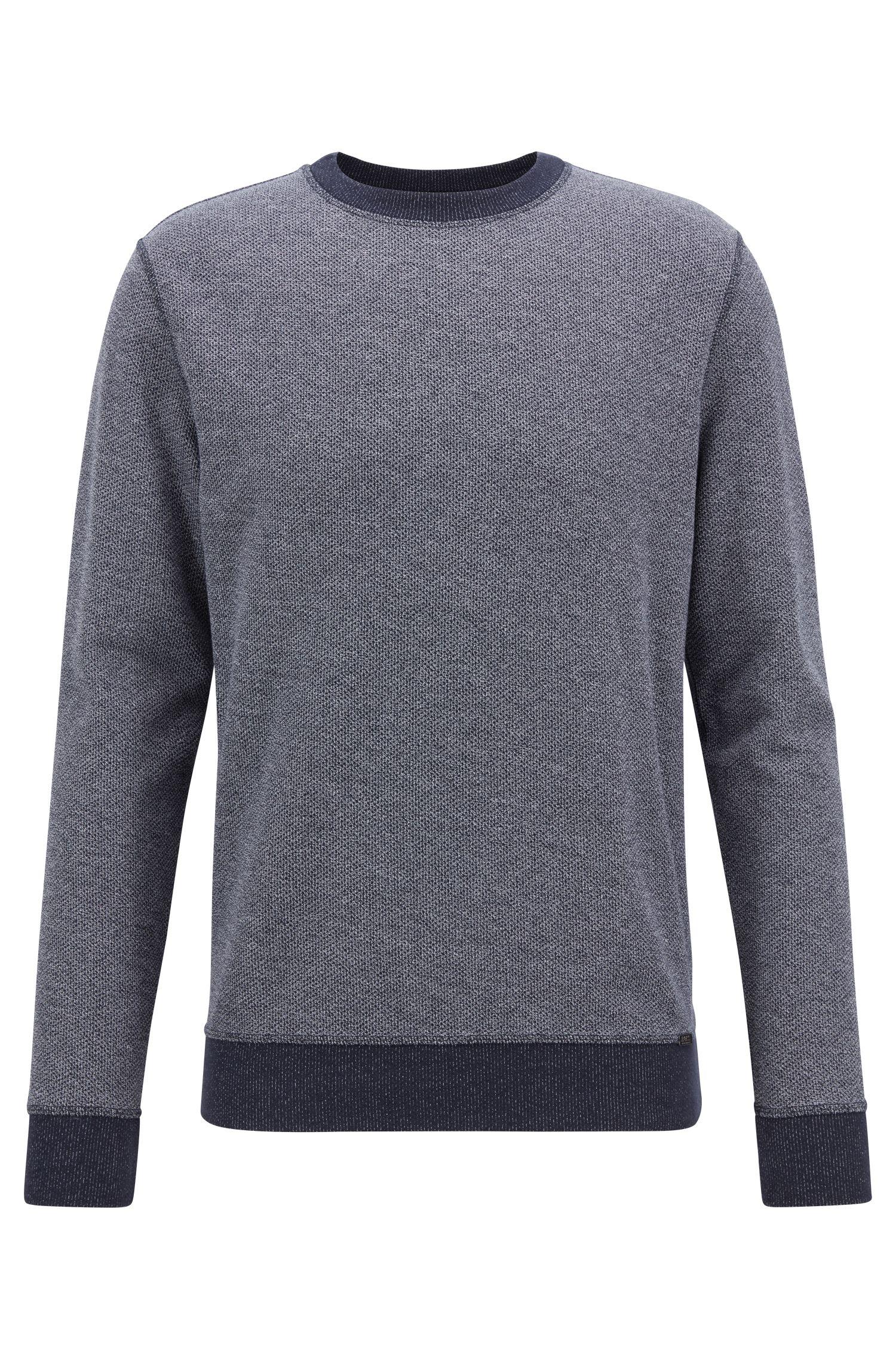 Wendbares Sweatshirt aus Baumwolle mit Mesh-Struktur und Kontrast-Details