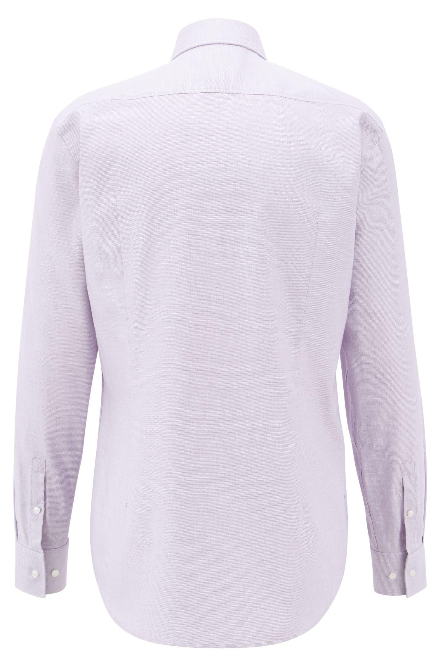 Slim-fit overhemd in een katoentwill met microstructuur, Lila