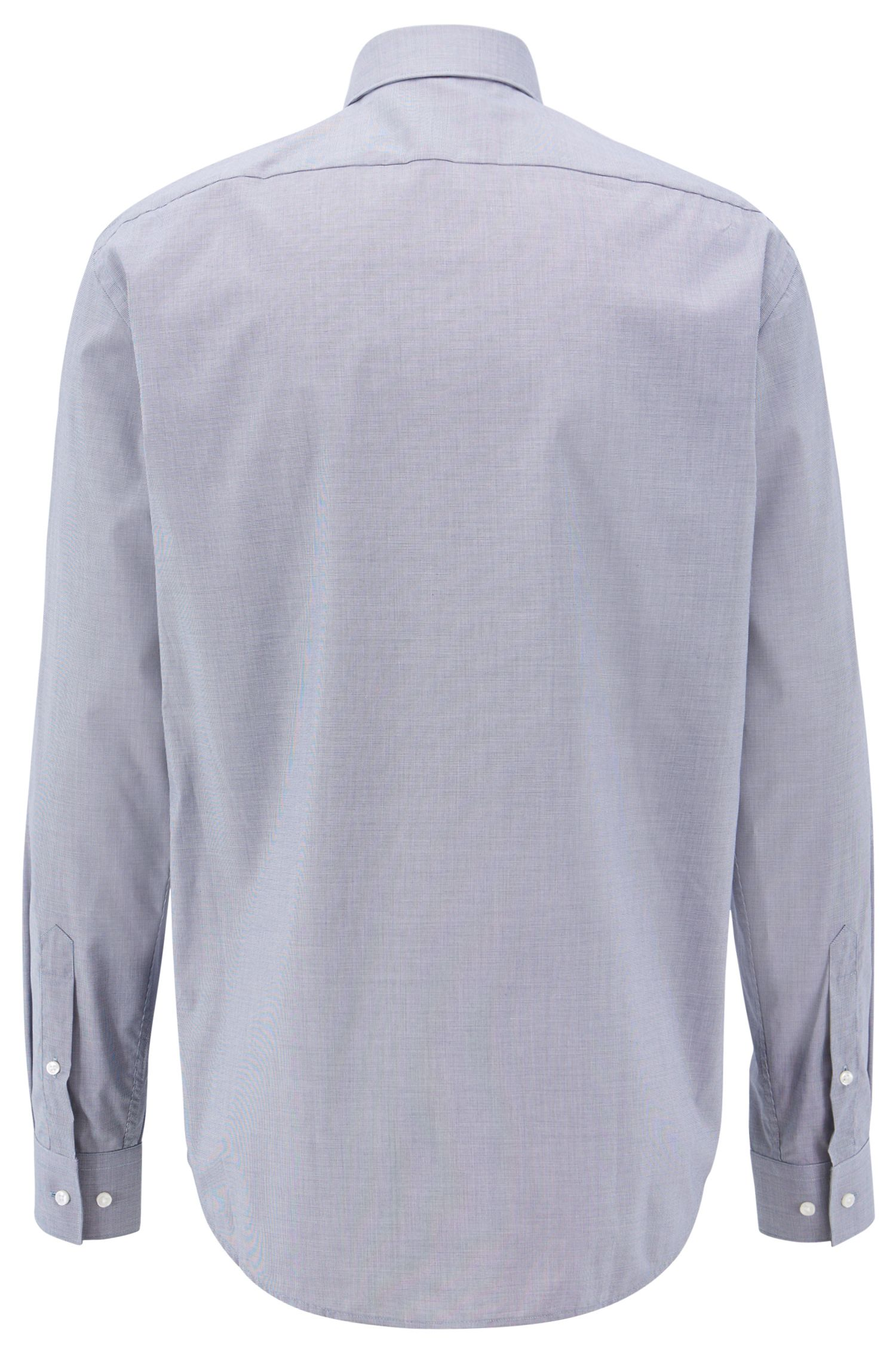 Regular-fit micro-pattern shirt with easy-iron finish