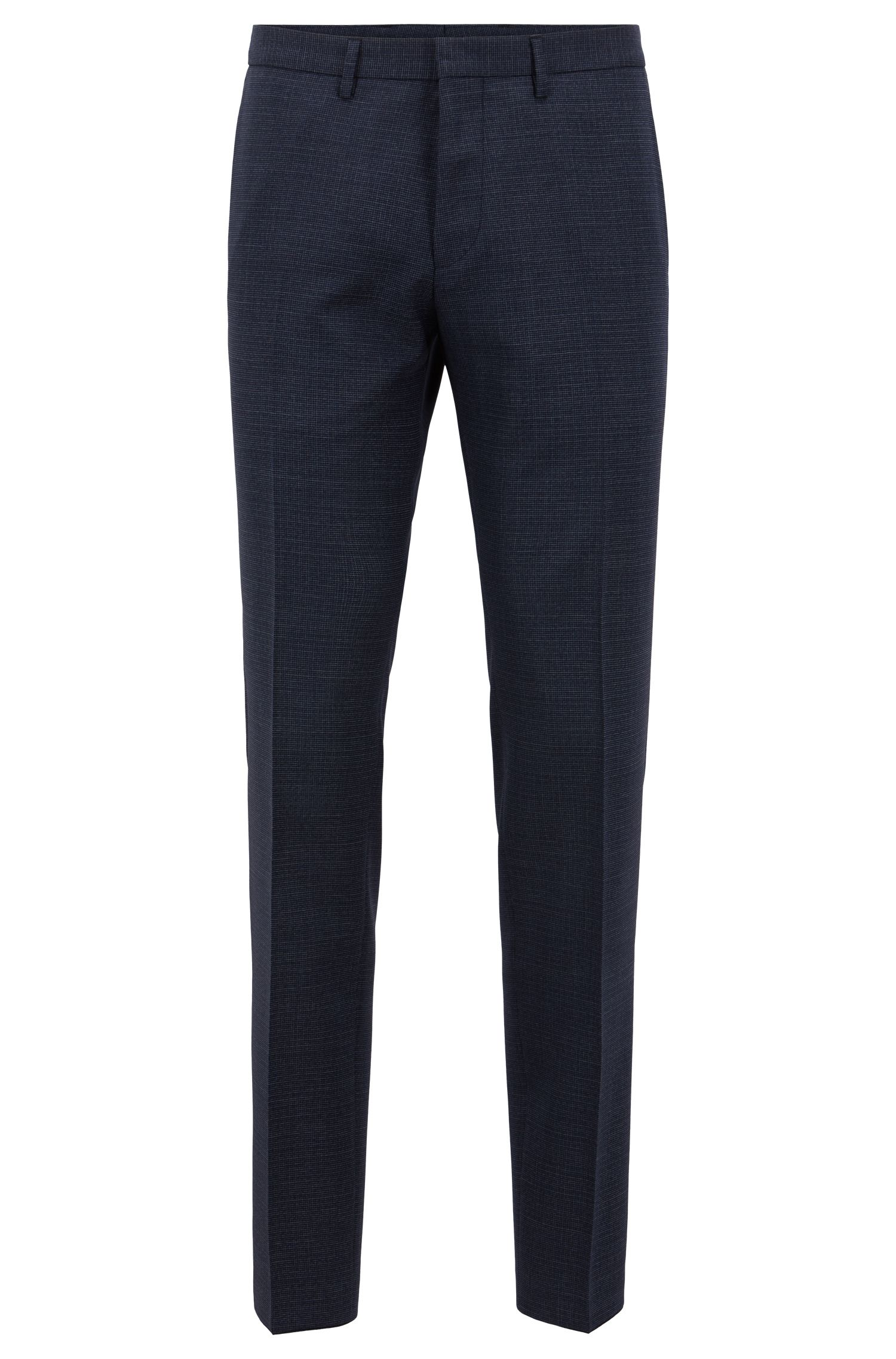 Extra-slim-fit virgin-wool suit with pattern