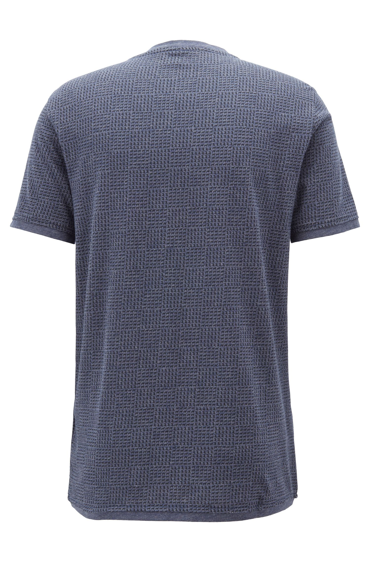 Crew-neck T-shirt in cotton with all-over print
