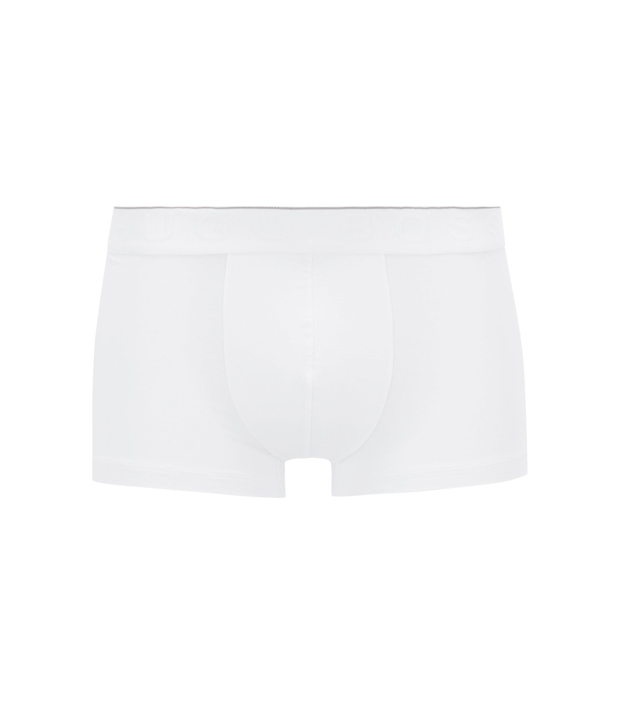 Logo-waistband trunks in stretch modal-blend jersey, White