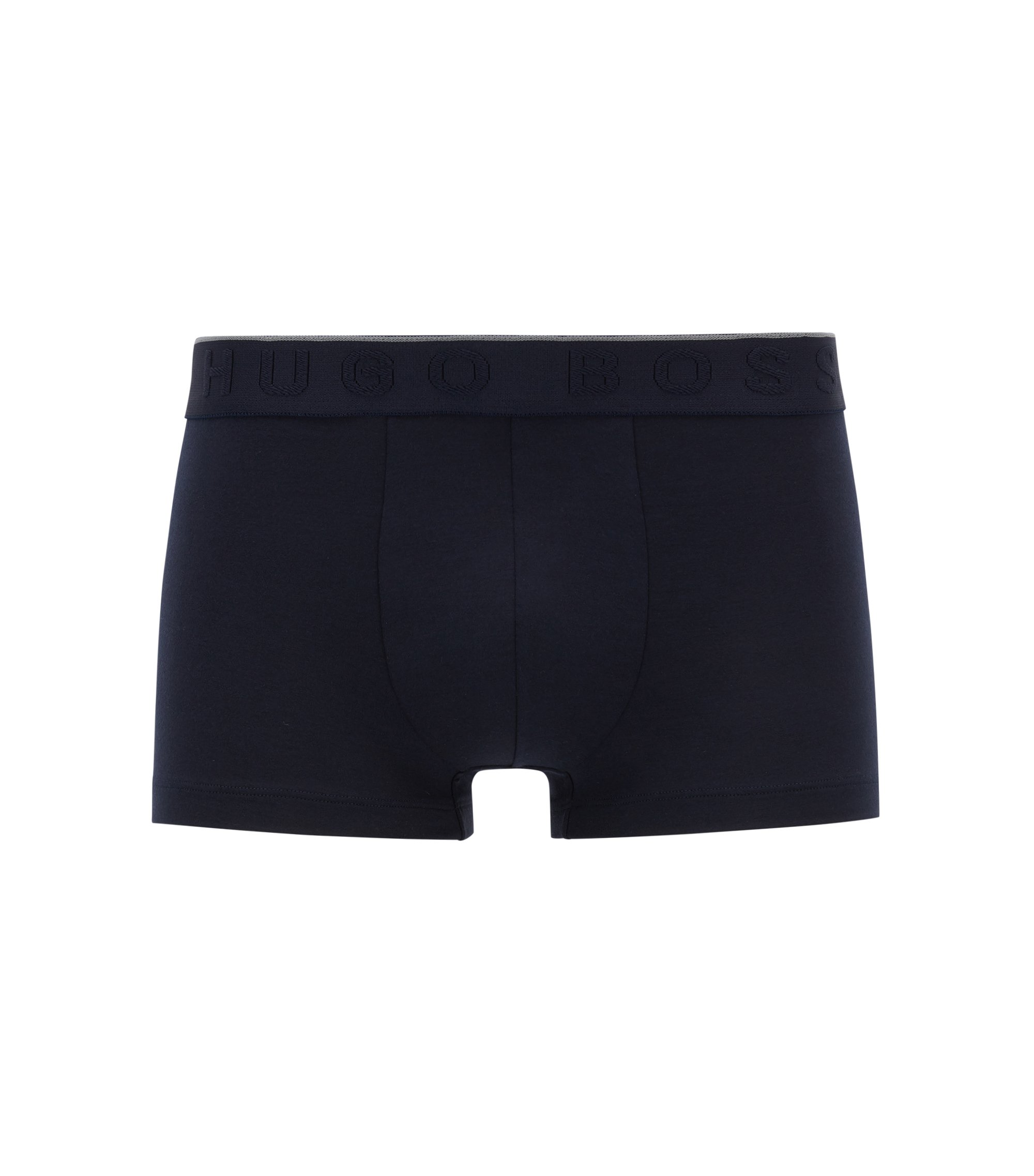 Logo-waistband trunks in stretch modal-blend jersey, Dark Blue