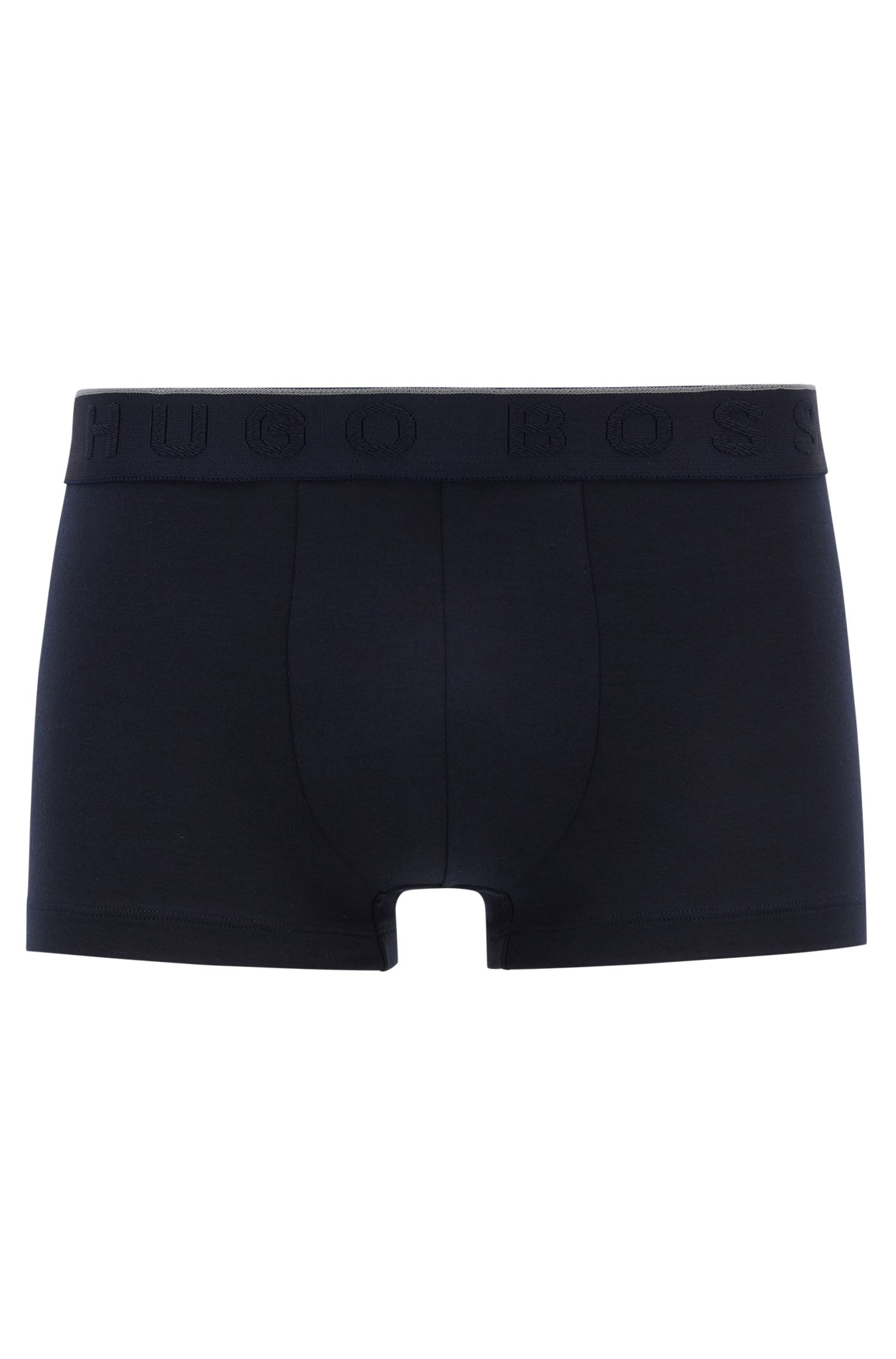Logo-waistband trunks in stretch modal-blend jersey