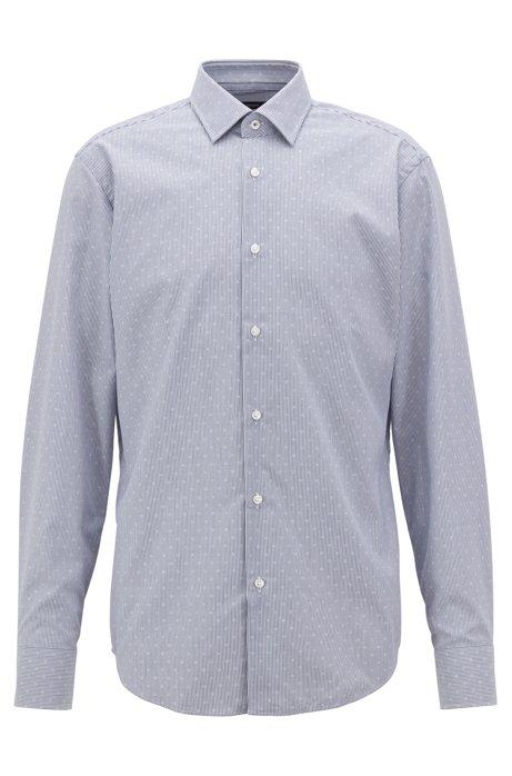 BOSS - Camisa regular fit en popelín de algodón dobby de planchado fácil 0247a6521d5