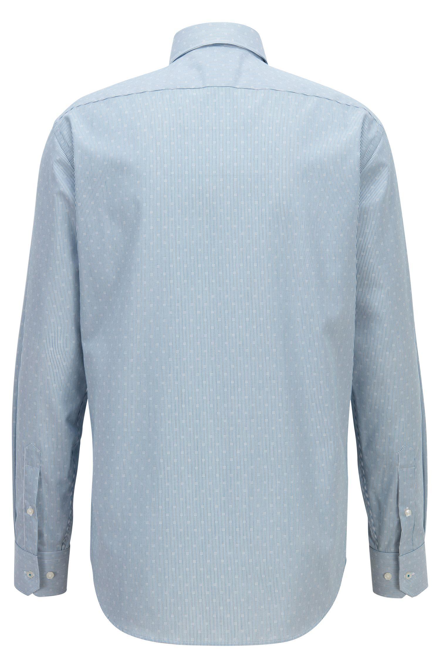 Regular-Fit Hemd aus bügelleichter Baumwoll-Popeline, Türkis