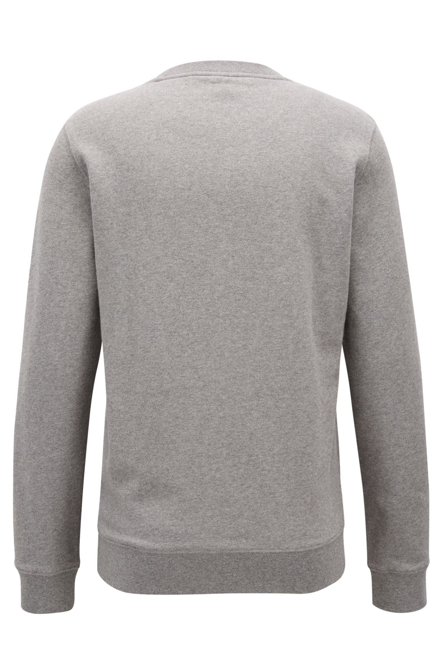 Sweat Regular Fit en molleton French Terry, à motif arty en dégradé, Gris chiné