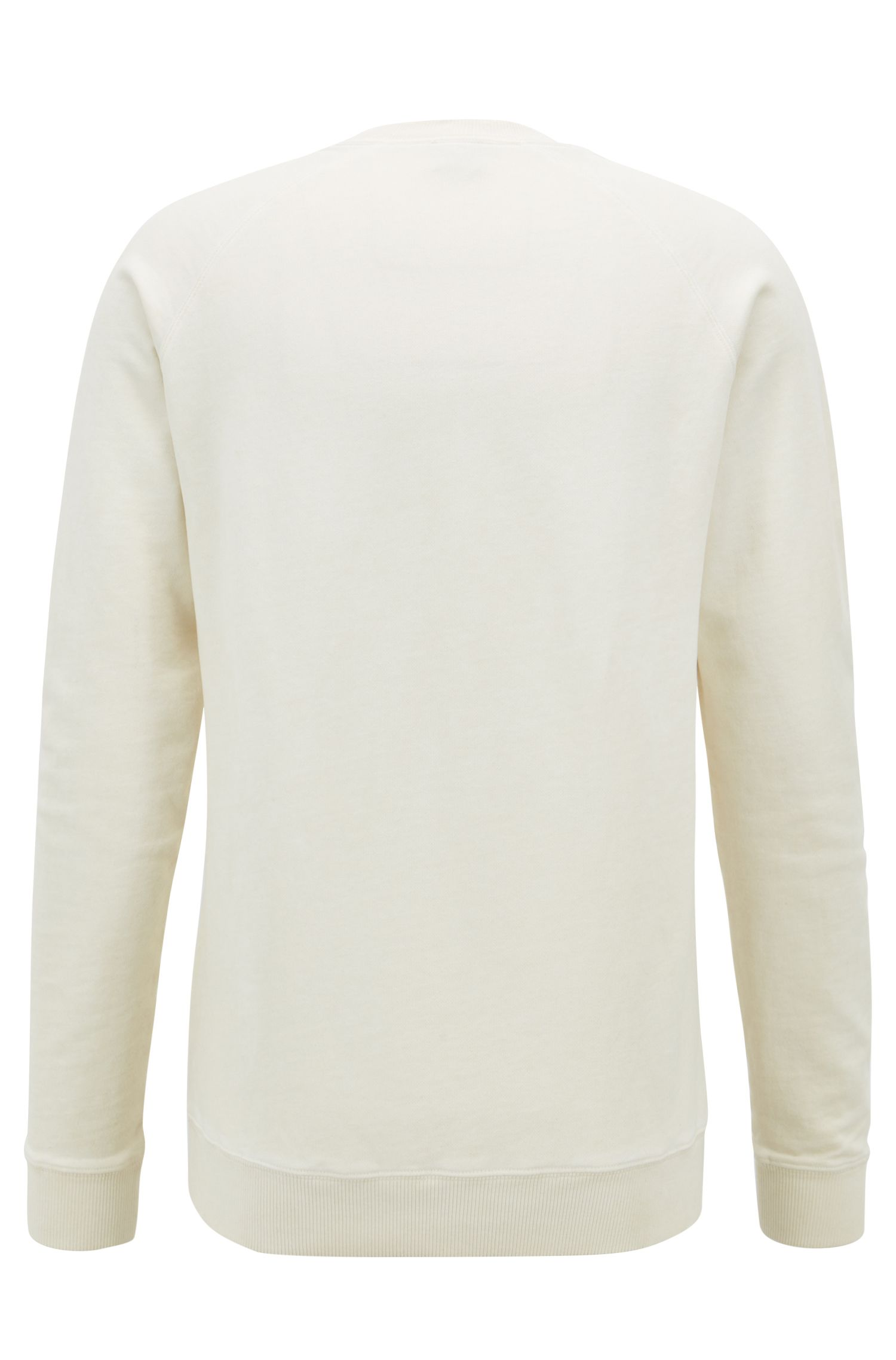 Sweat en molleton French Terry à logo brodé, Beige clair