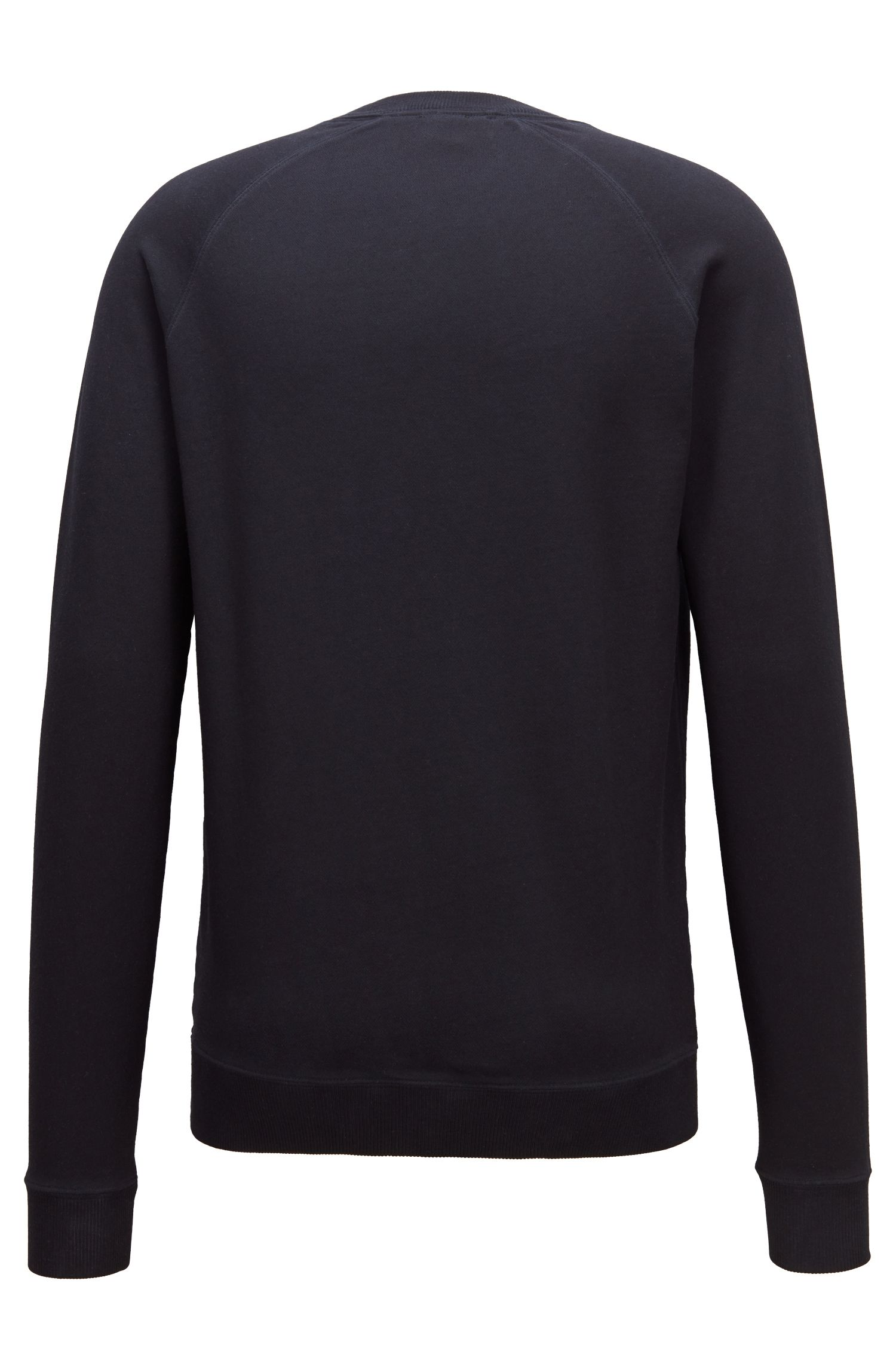 Sweatshirt aus French Terry mit Logo-Stickerei, Dunkelblau