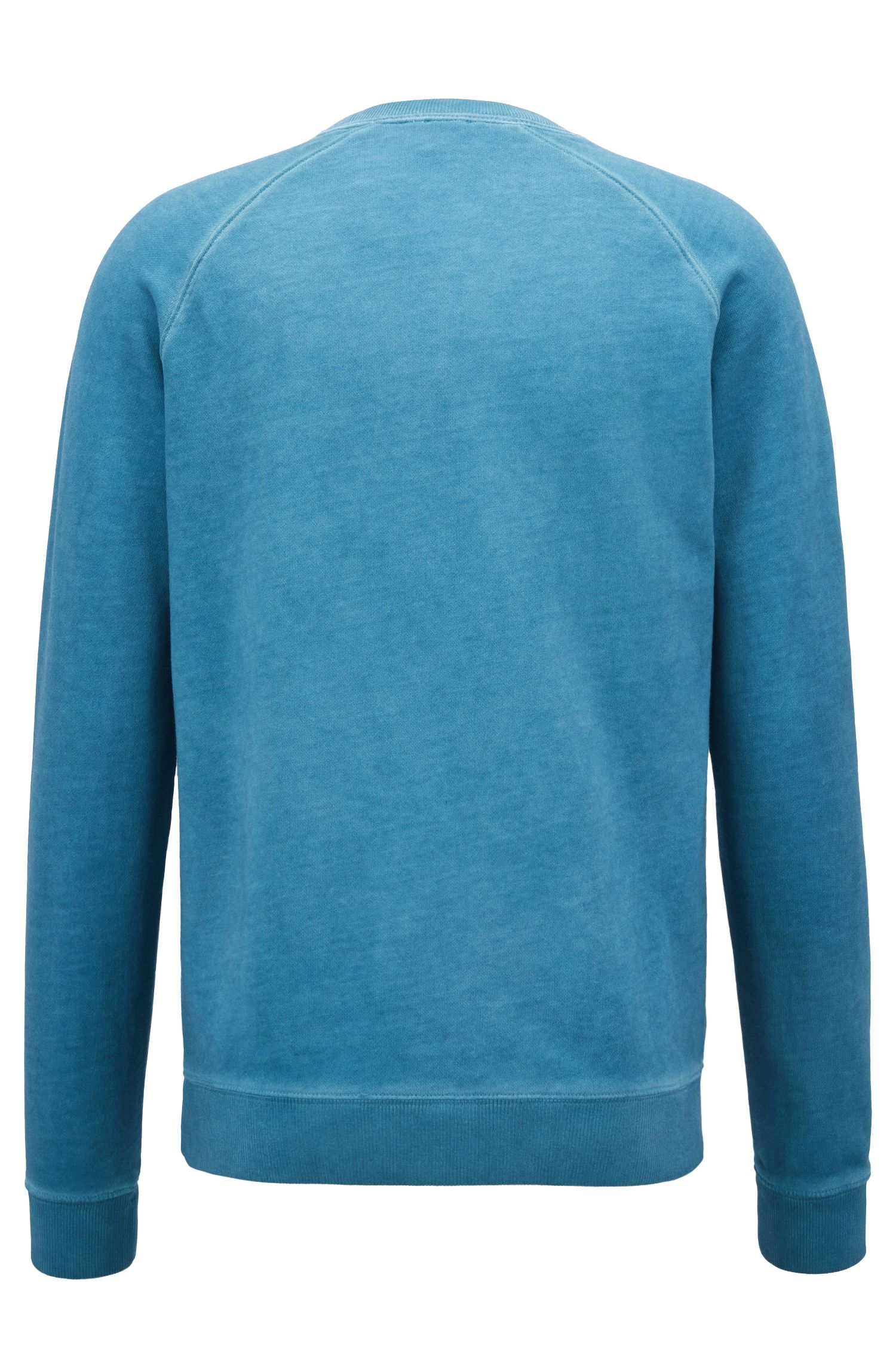 Sweat en molleton French Terry à logo brodé, Bleu vif