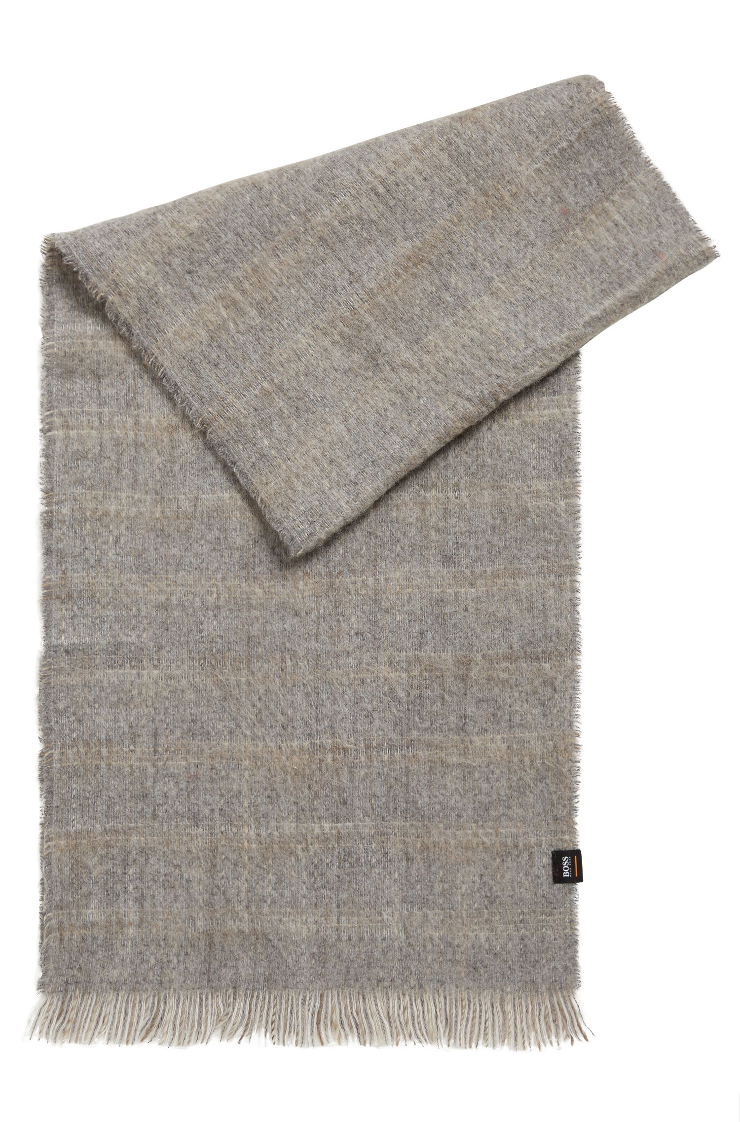 Super-soft scarf with muted stripe, Grey
