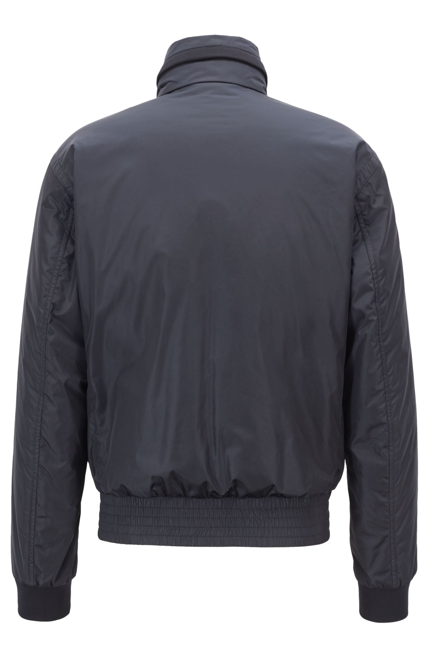 Blouson idrorepellente con cappuccio ripiegabile, Blu scuro