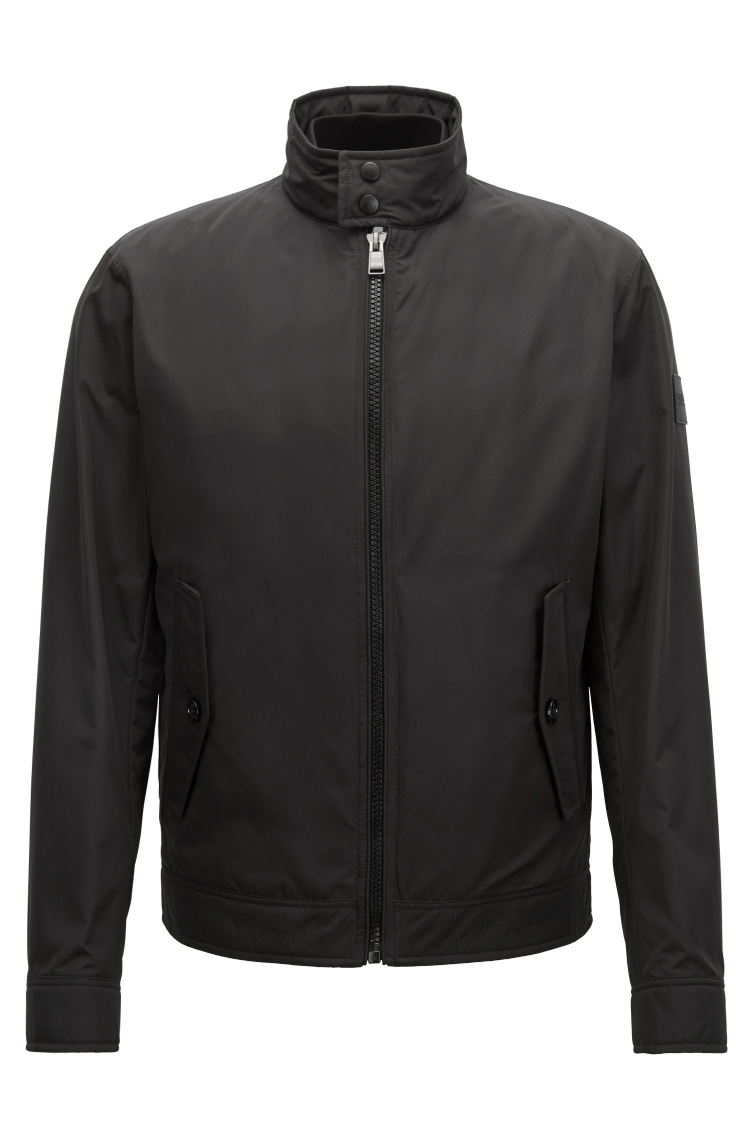Three-in-one water-repellent jacket and detachable vest, Black