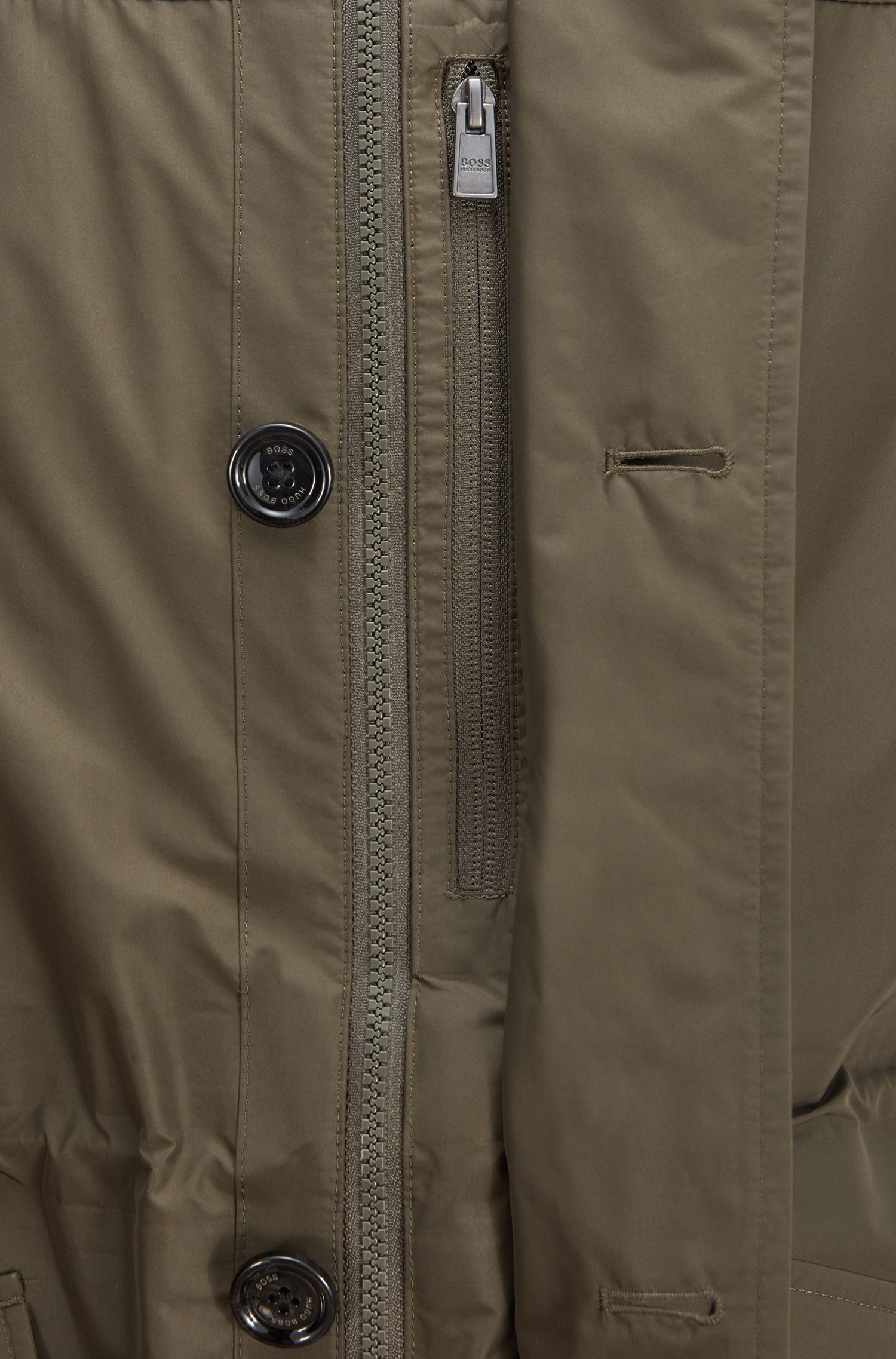 Three-in-one water-repellent parka with taped seams, Dark Green