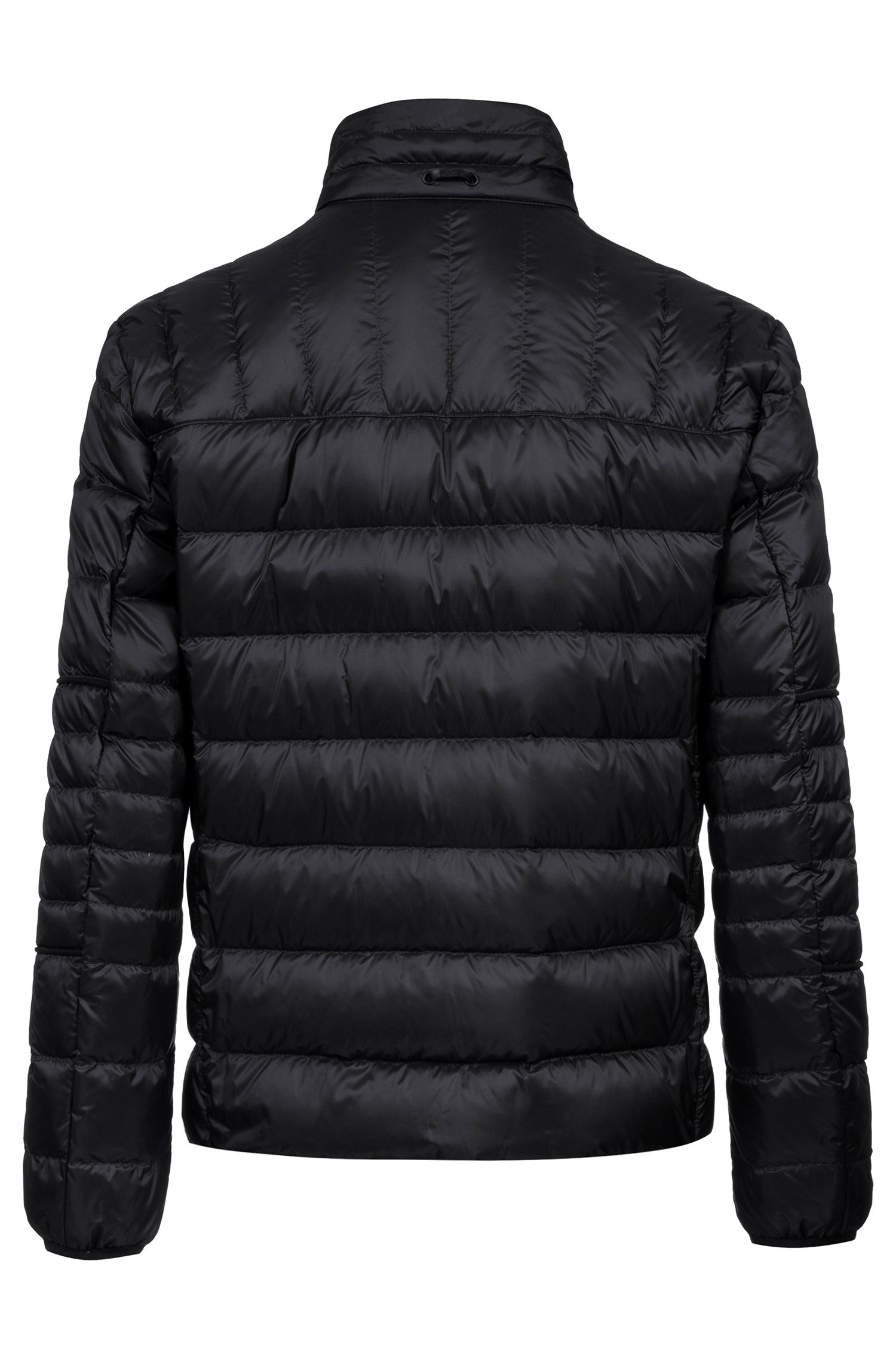Regular-fit down jacket in water-repellent technical fabric, Black