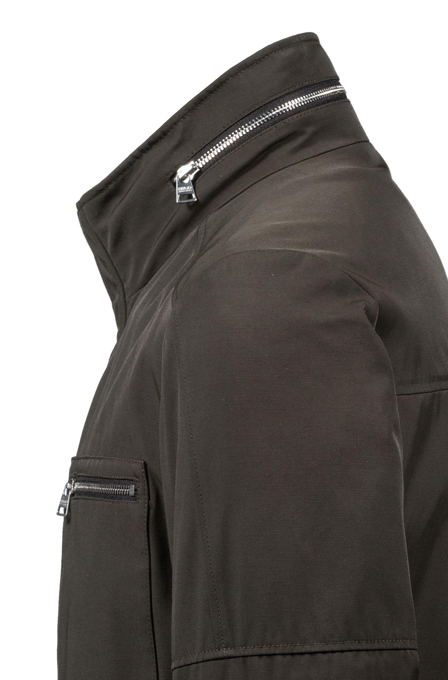Fieldjacket van waterafstotend, technisch materiaal, Donkergroen