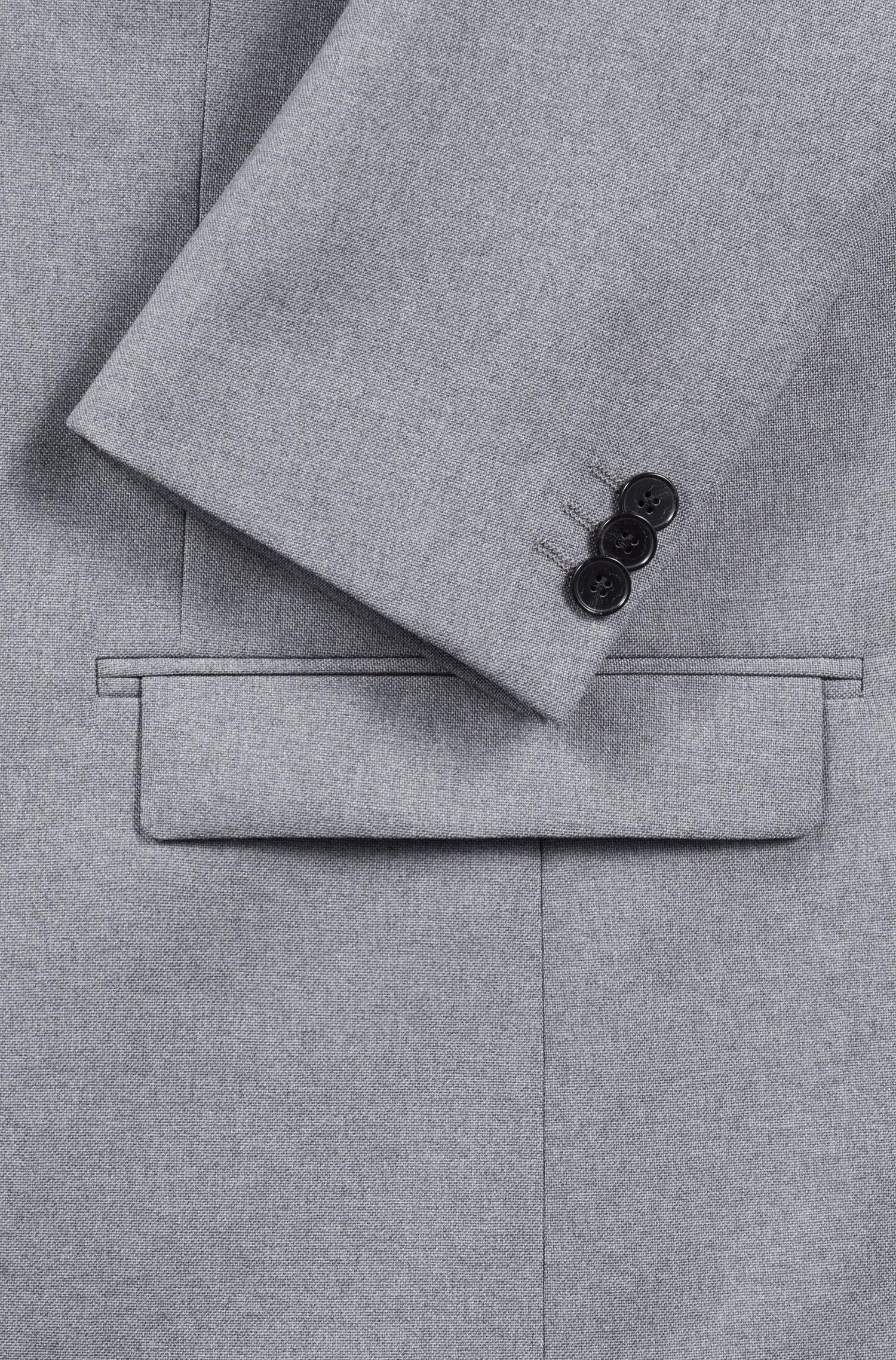 Costume Extra Slim Fit en laine vierge avec doublure camouflage, Gris