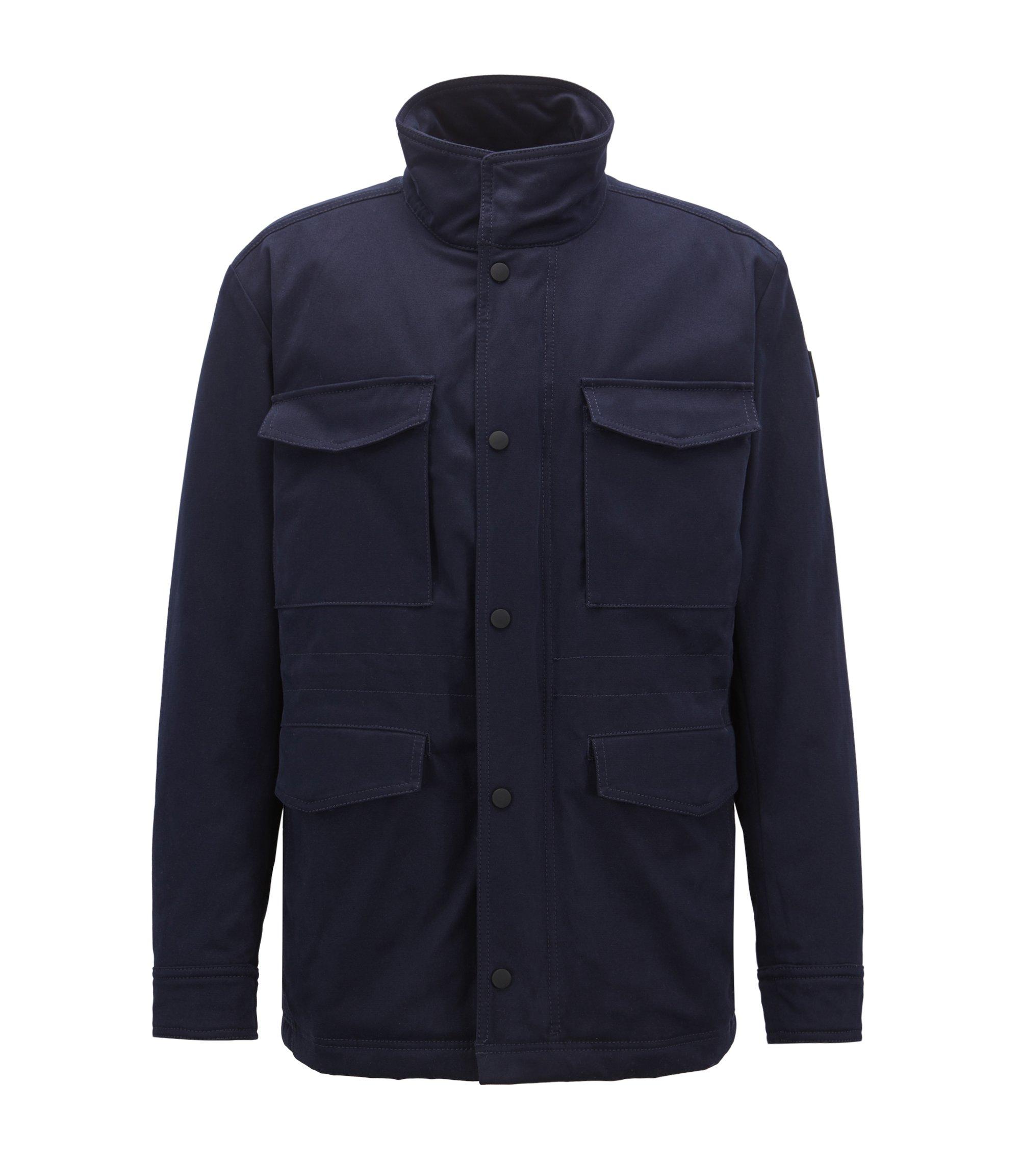 Water-repellent jacket with PrimaLoft® padding, Dark Blue