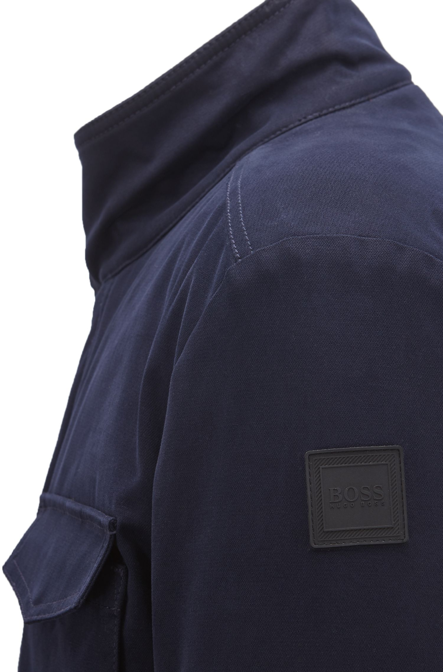 Water-repellent jacket with PrimaLoft® padding, Dark Blue