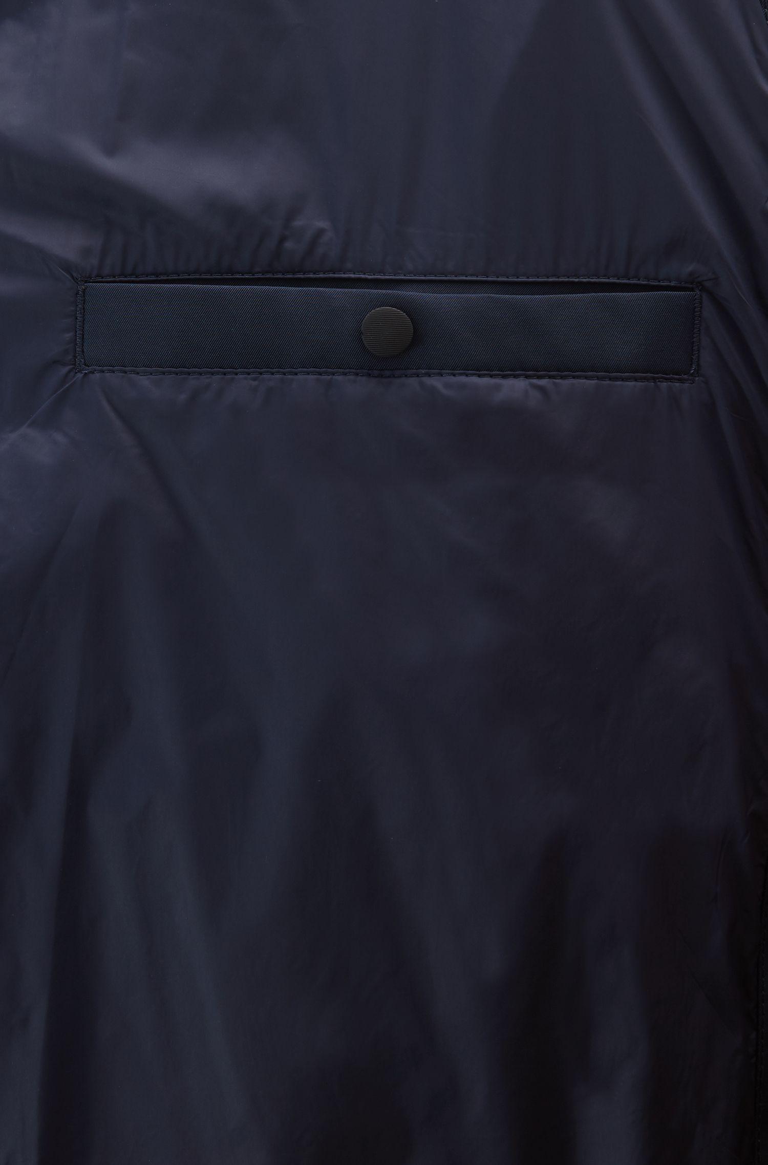 Wasserabweisender Daunen-Parka mit Colour-Block-Innenfutter, Schwarz