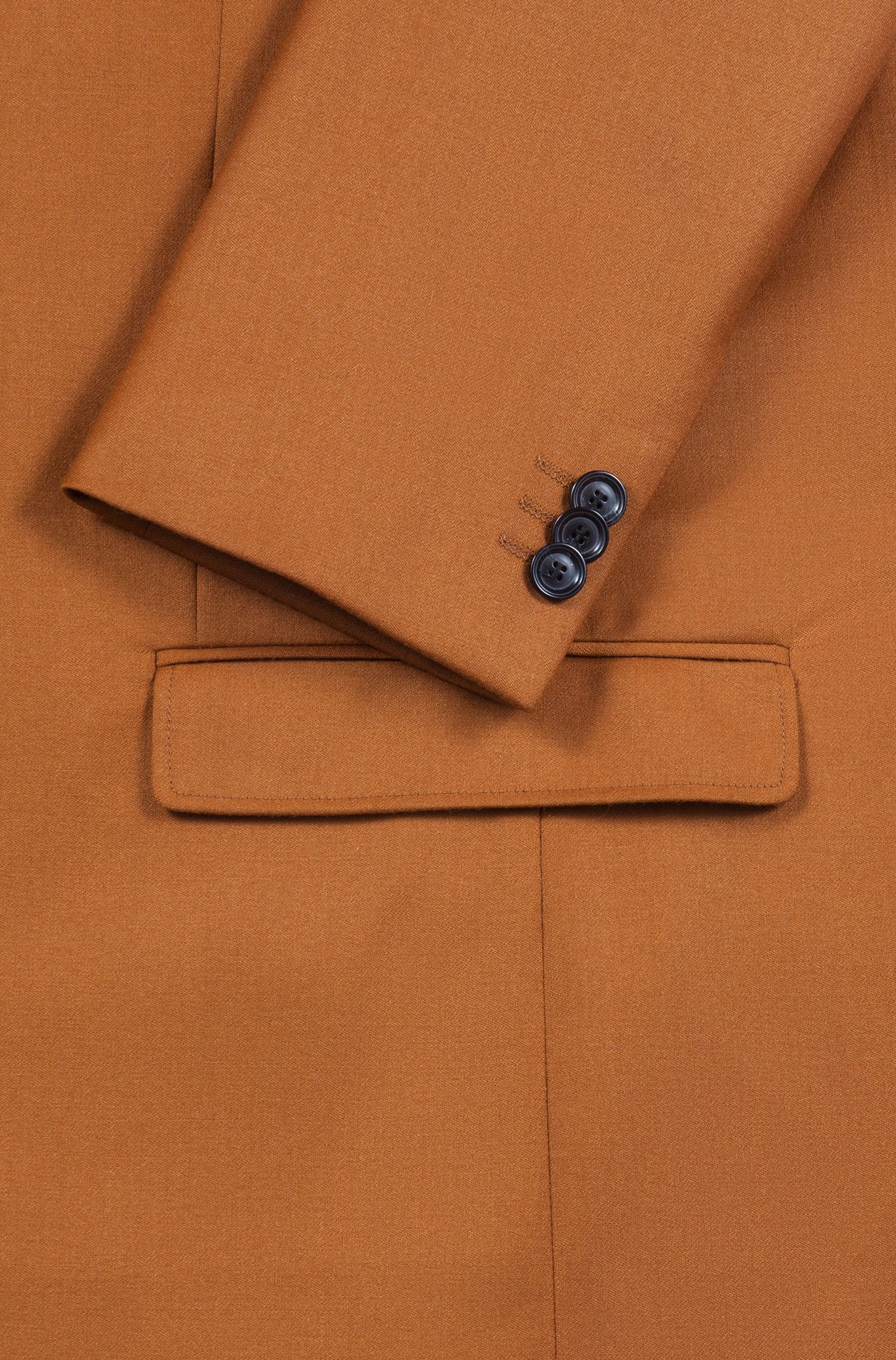 Extra-slim-fit virgin-wool blazer with buttonhole detail