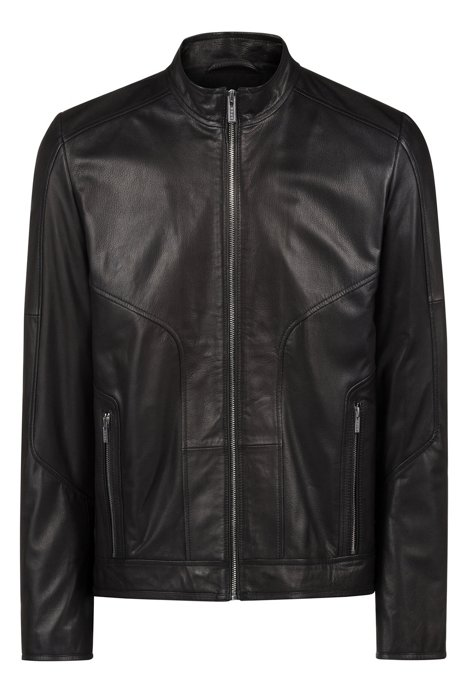 HUGO - Slim-fit biker jacket in oiled nappa nubuck leather 9eb81b59f0d