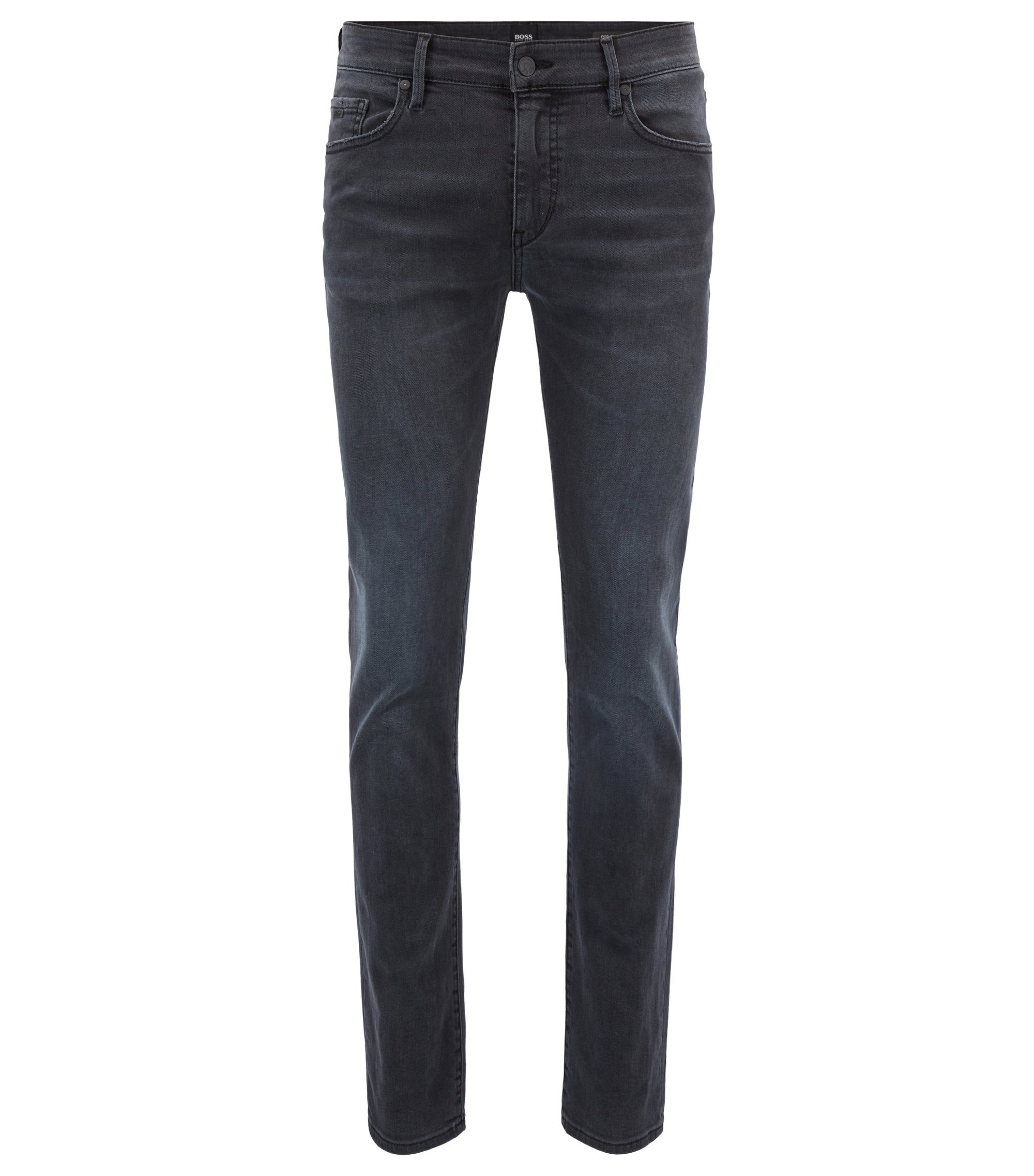 Jean Skinny Fit en denim noir lavé super stretch, Anthracite