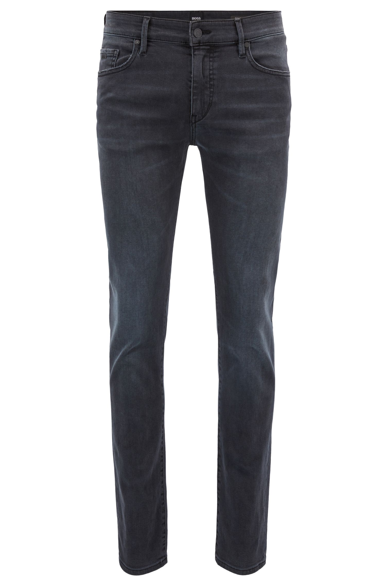 Skinny-Fit Jeans aus Super-Stretch-Denim, Anthrazit