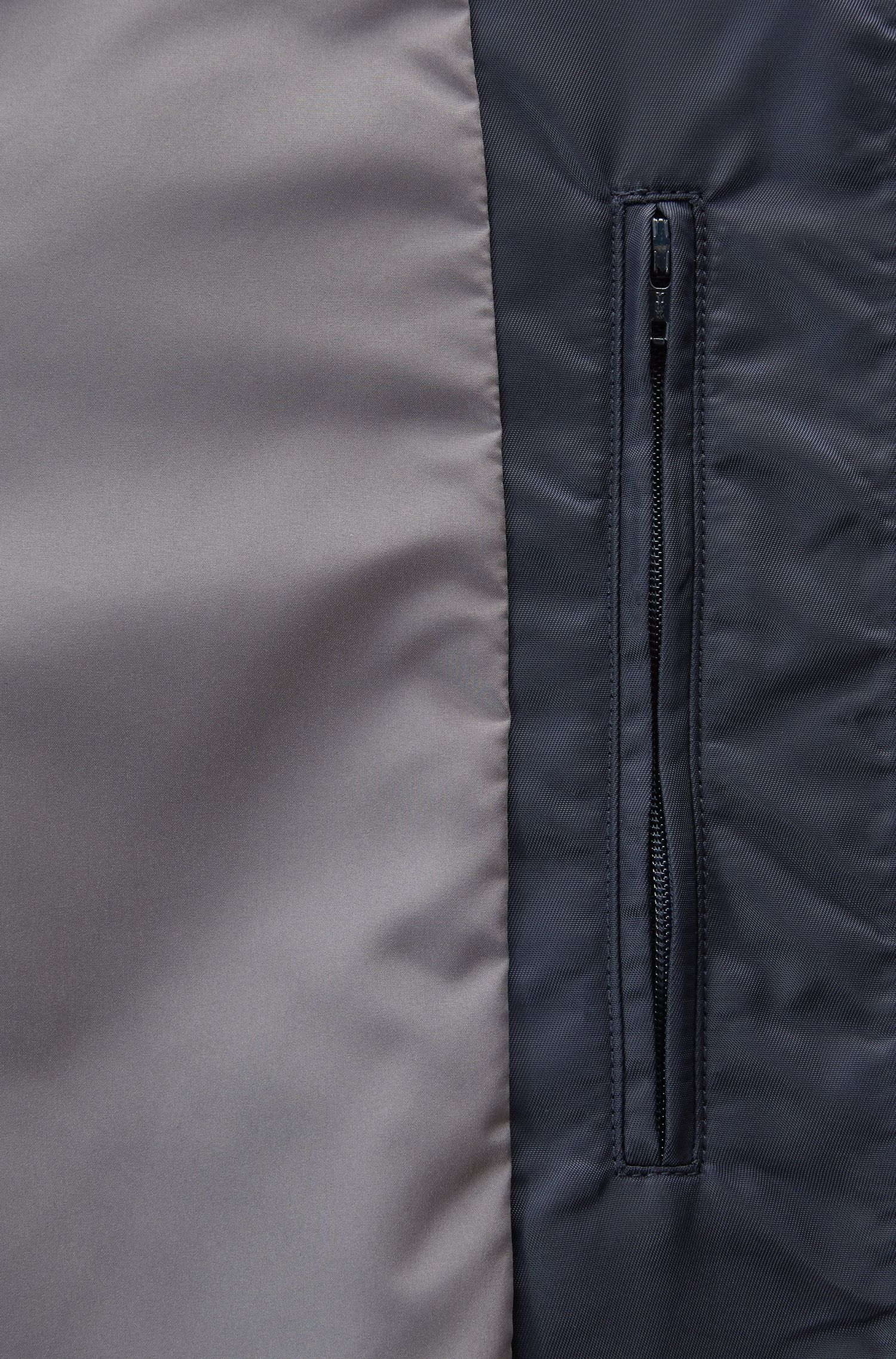 Lightly quilted bomber jacket in water-repellent fabric, Blue