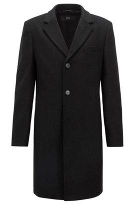 Mantel aus Schurwoll-Mix mit Kaschmir und fallendem Revers, Schwarz 625ffe68fd