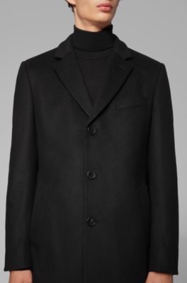 Coat Cashmere With Lapels And In Wool Formal Notch toxhdCsrQB
