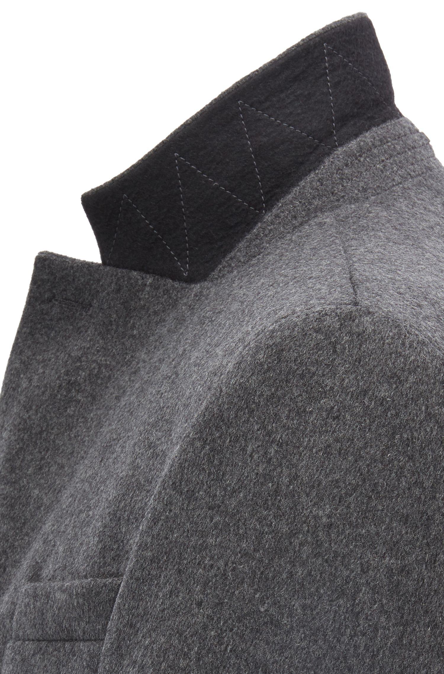 Pardessus en laine et cachemire avec revers cranté