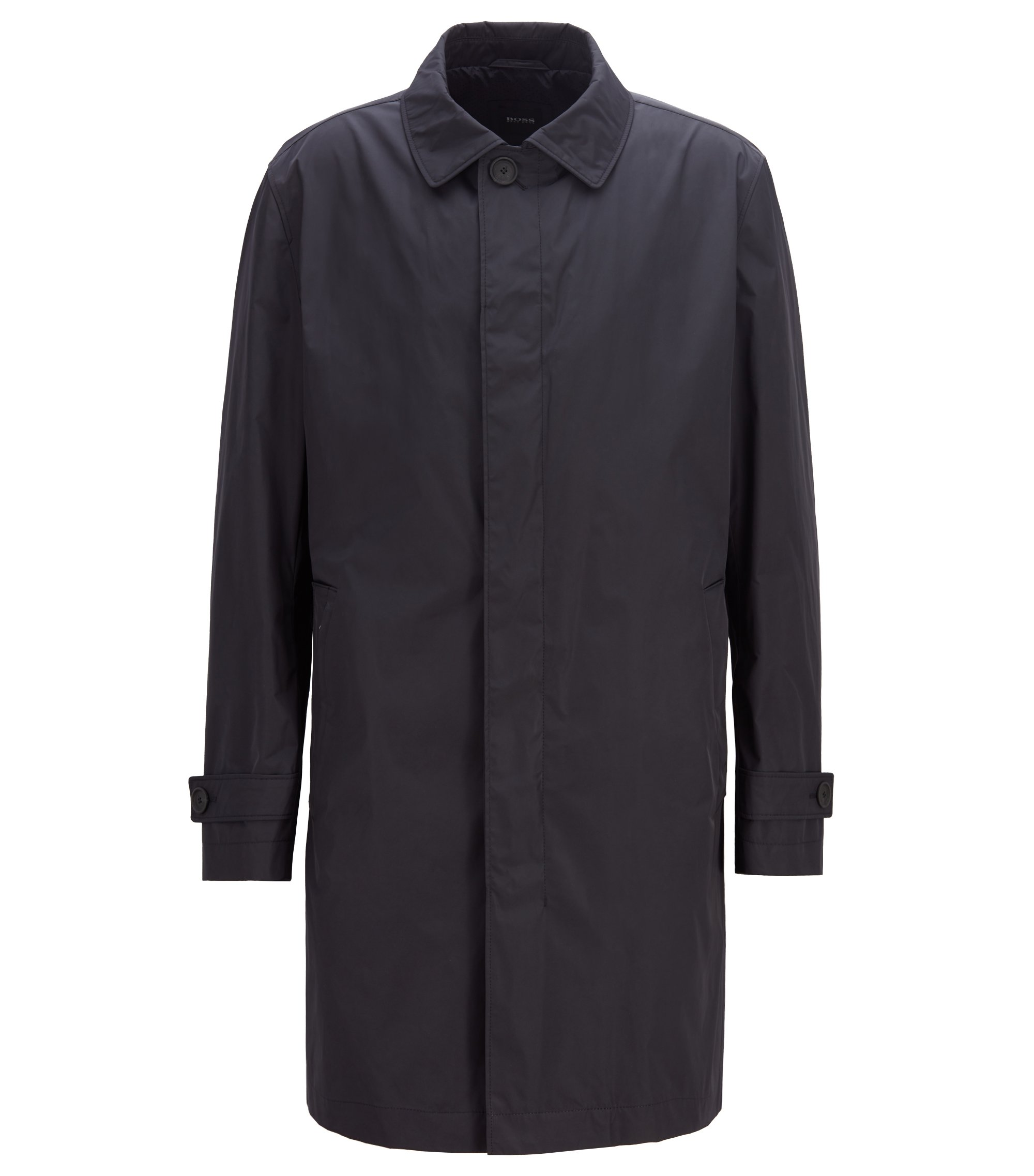 Packable car coat in water-repellent fabric, Dark Blue