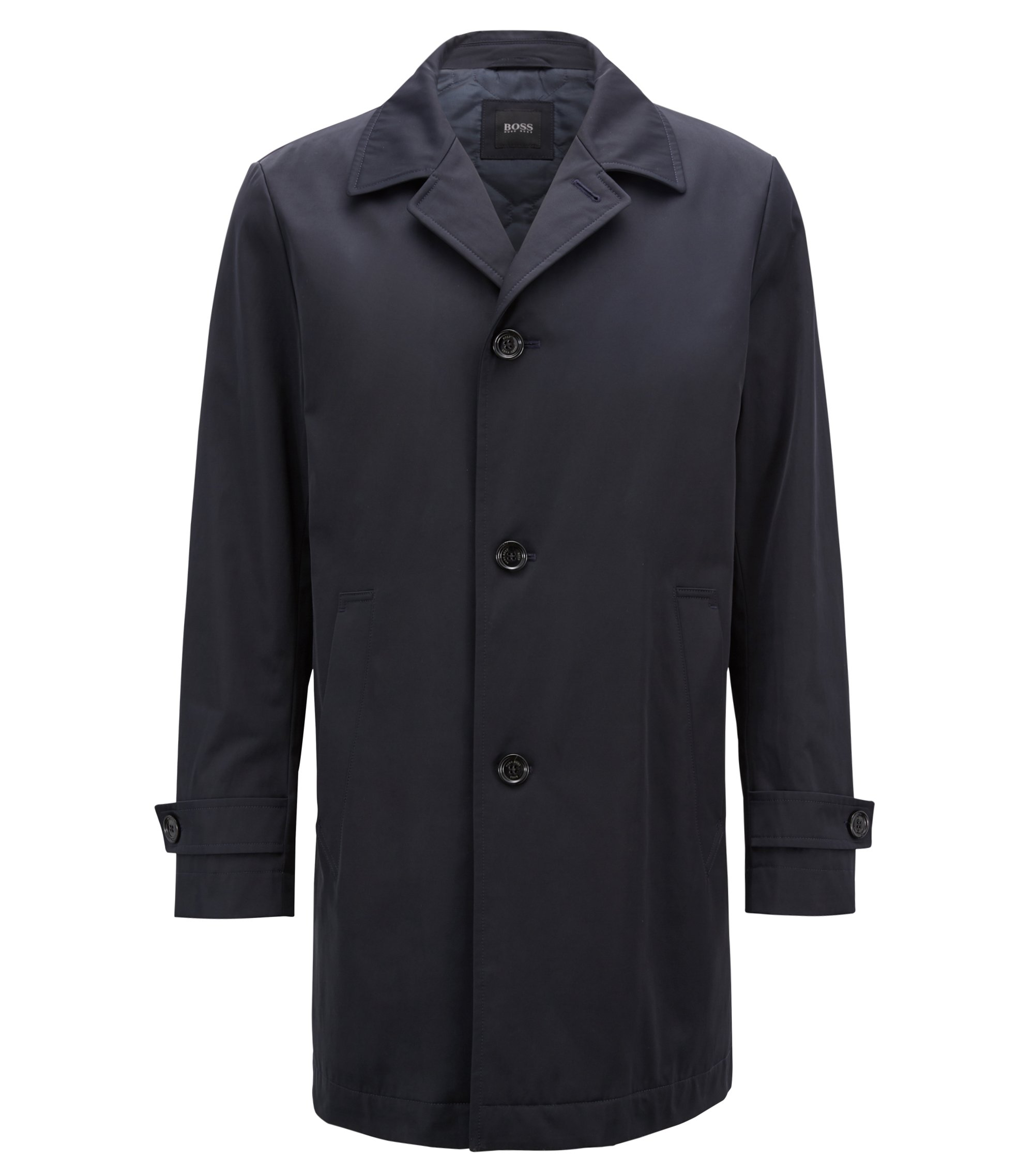 Car coat in water-repellent technical twill, Dark Blue
