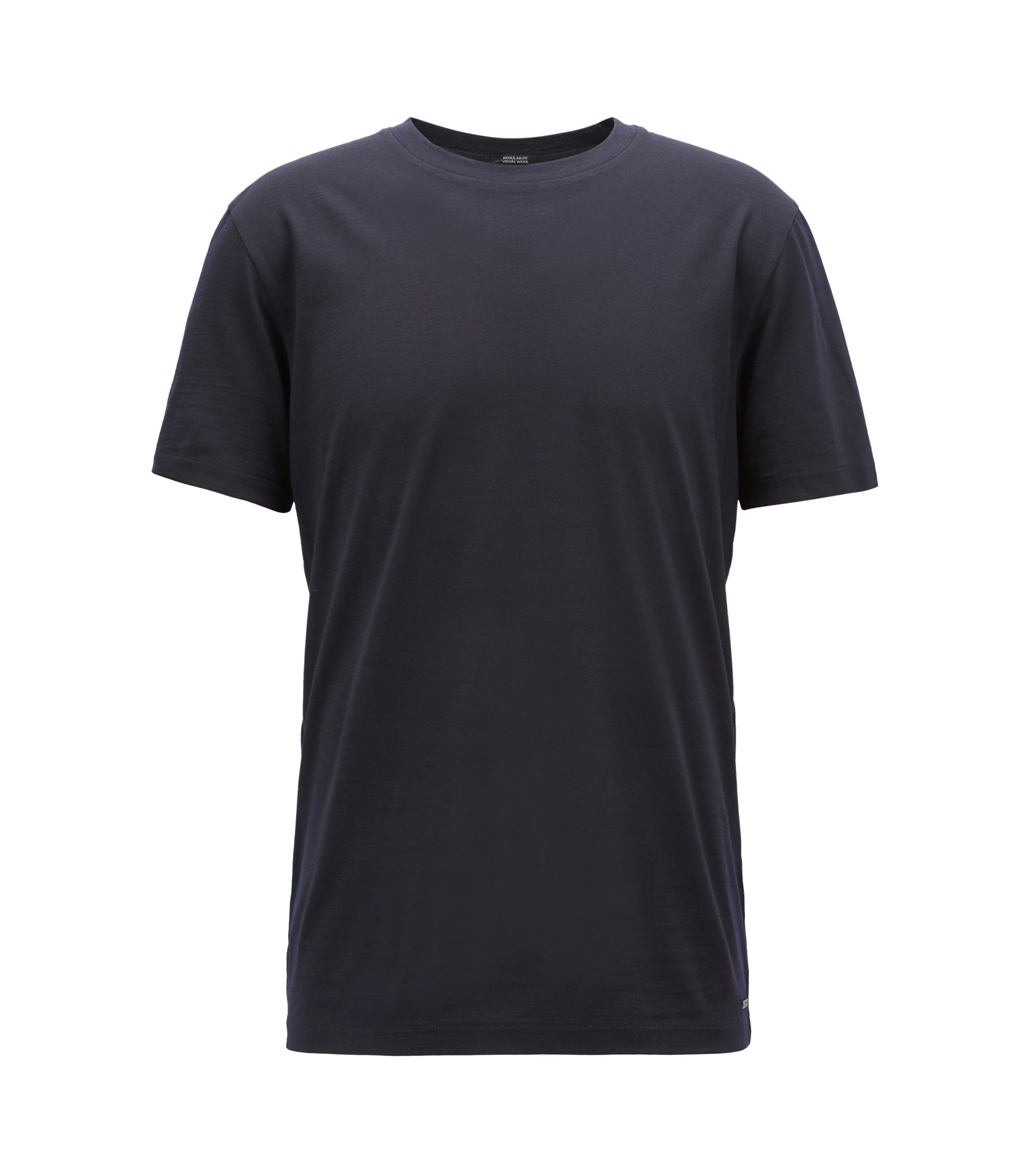 Travel Line T-shirt in Italian virgin wool, Blue