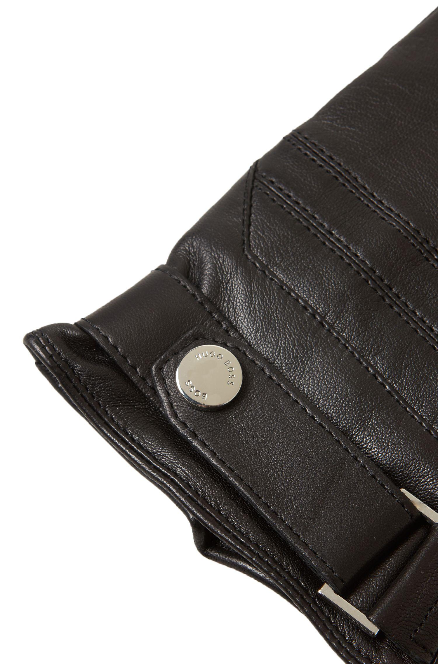 Guantes de piel de cordero de napa con función táctil Touch Tech, Negro