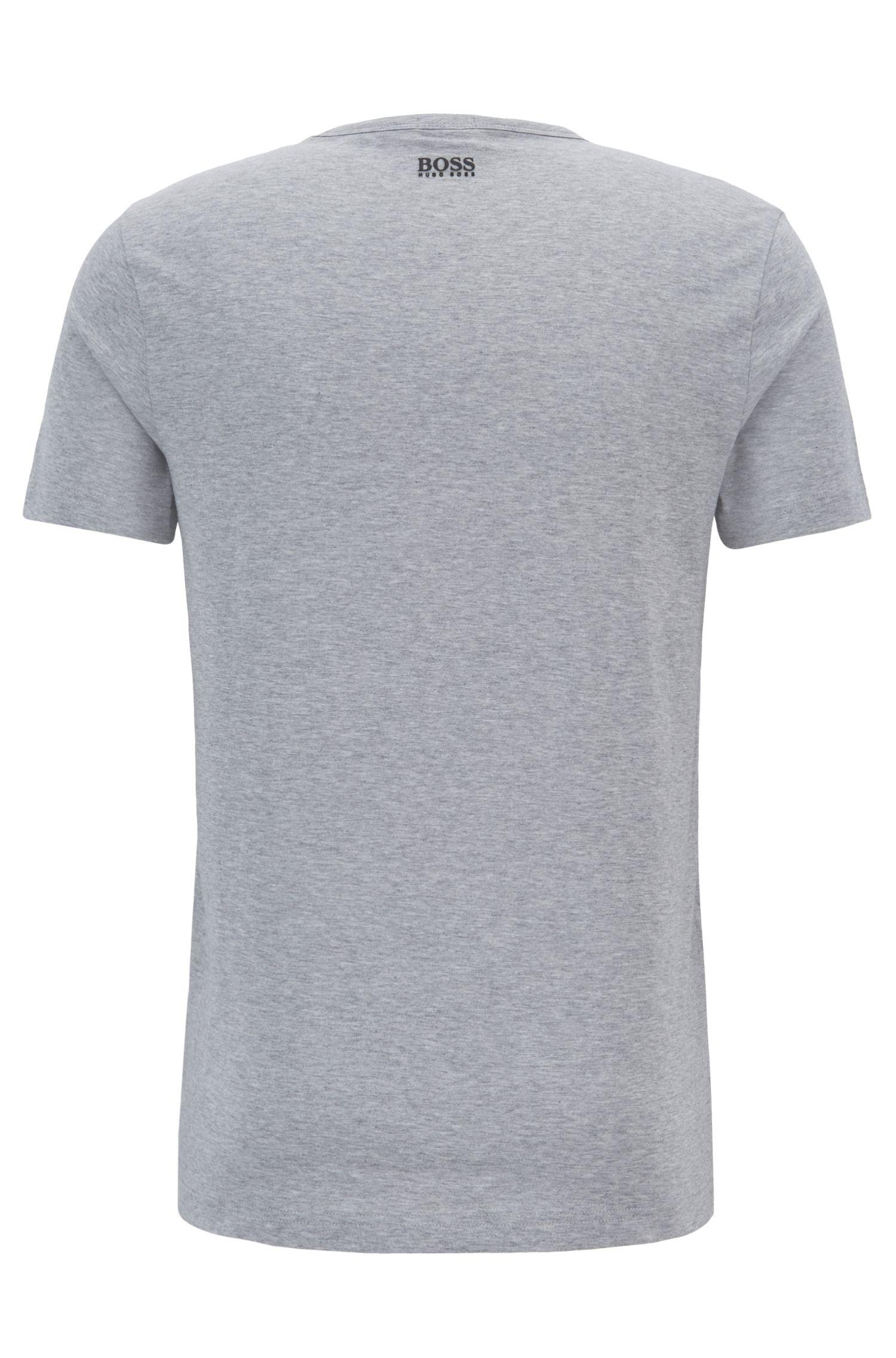 T-Shirt aus Baumwolle mit Logo-Print, Hellgrau