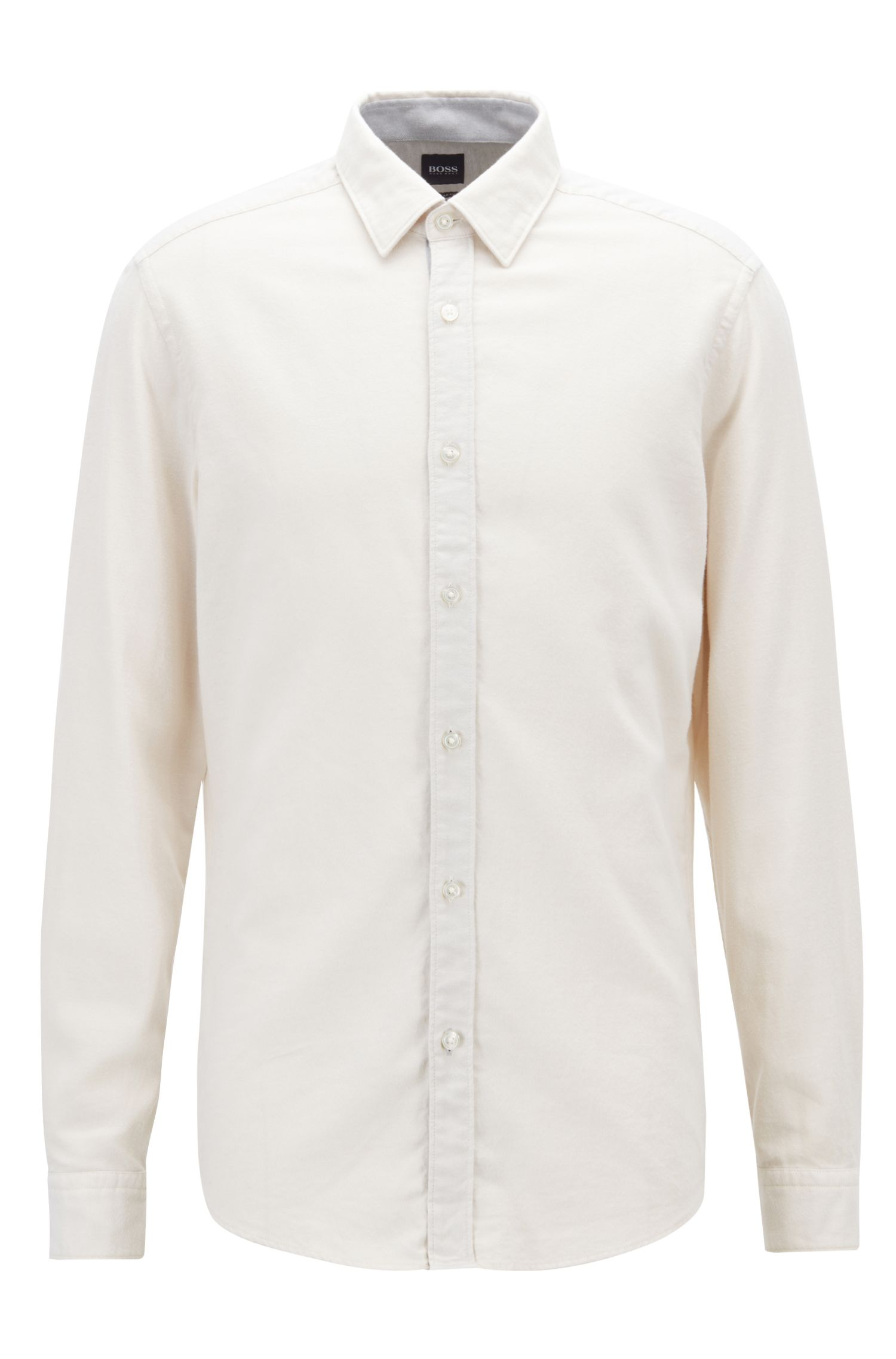 Chemise Regular Fit en flanelle de coton exclusif, Chair