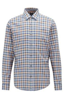 Regular-Fit Hemd aus Baumwolle mit farbenfrohem Karo, Hellorange 453951dd43